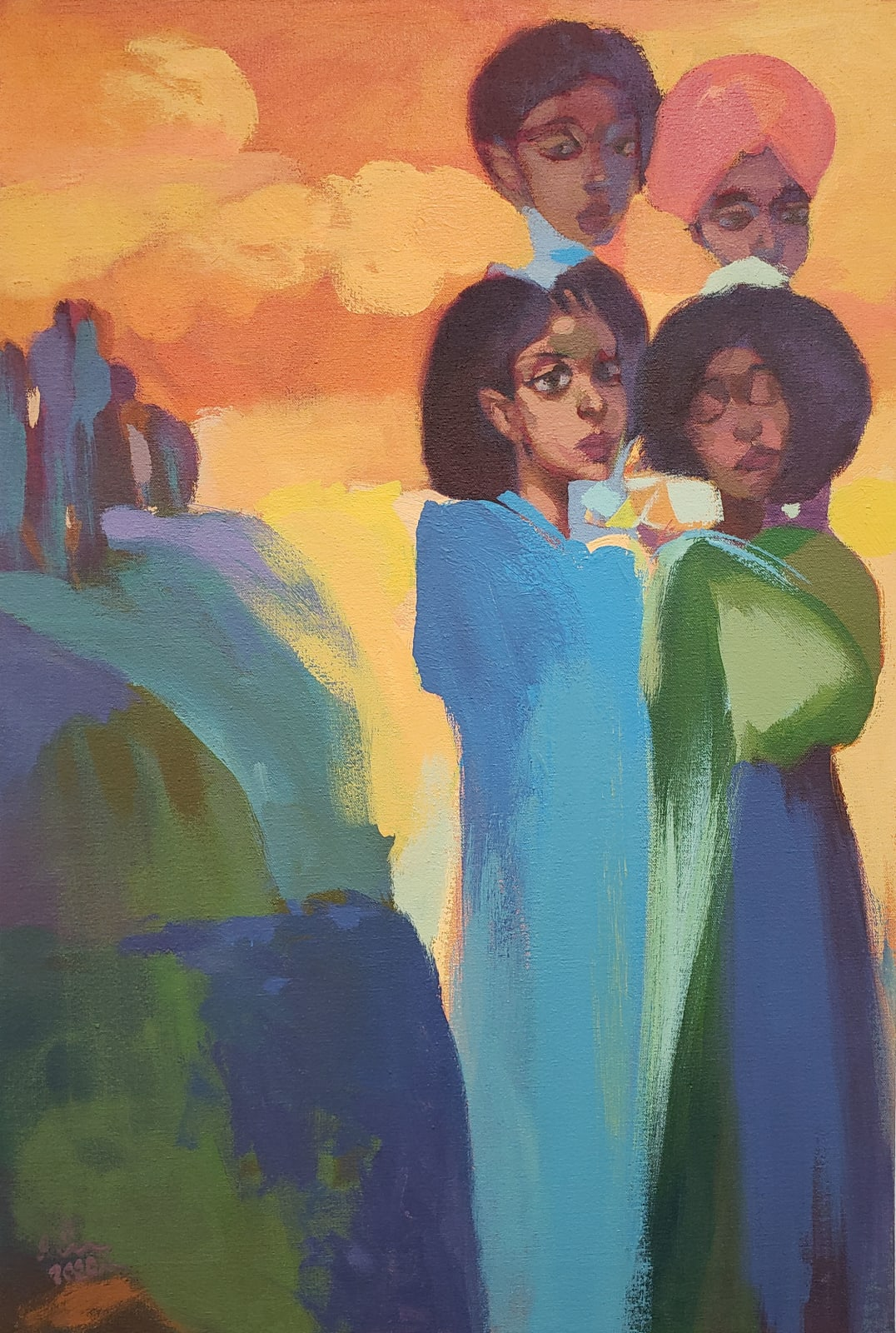 Dereje Demissie, Floating Memories 4, 2020