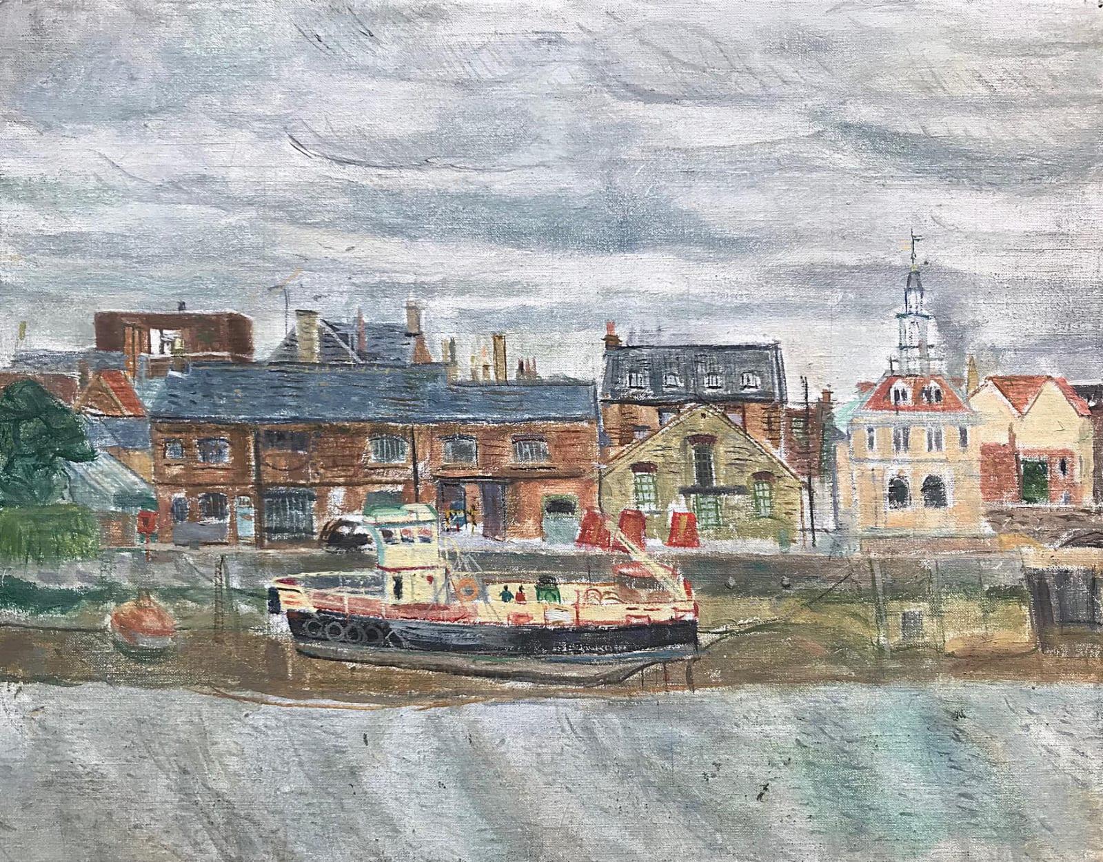Leonard Mccomb, Trawler at King's Lynn, 1999