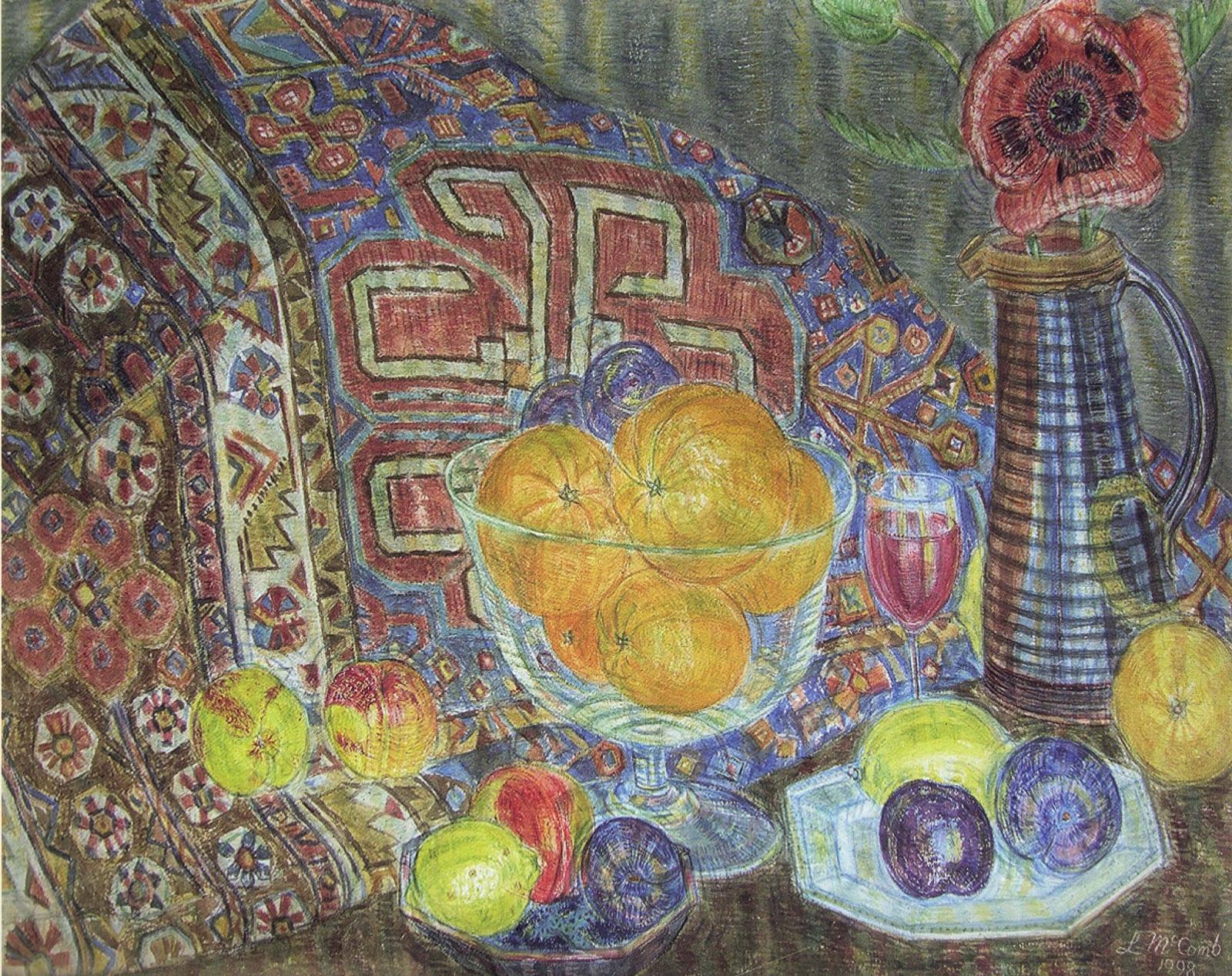 Leonard Mccomb, Still life with Persian rug, 1998