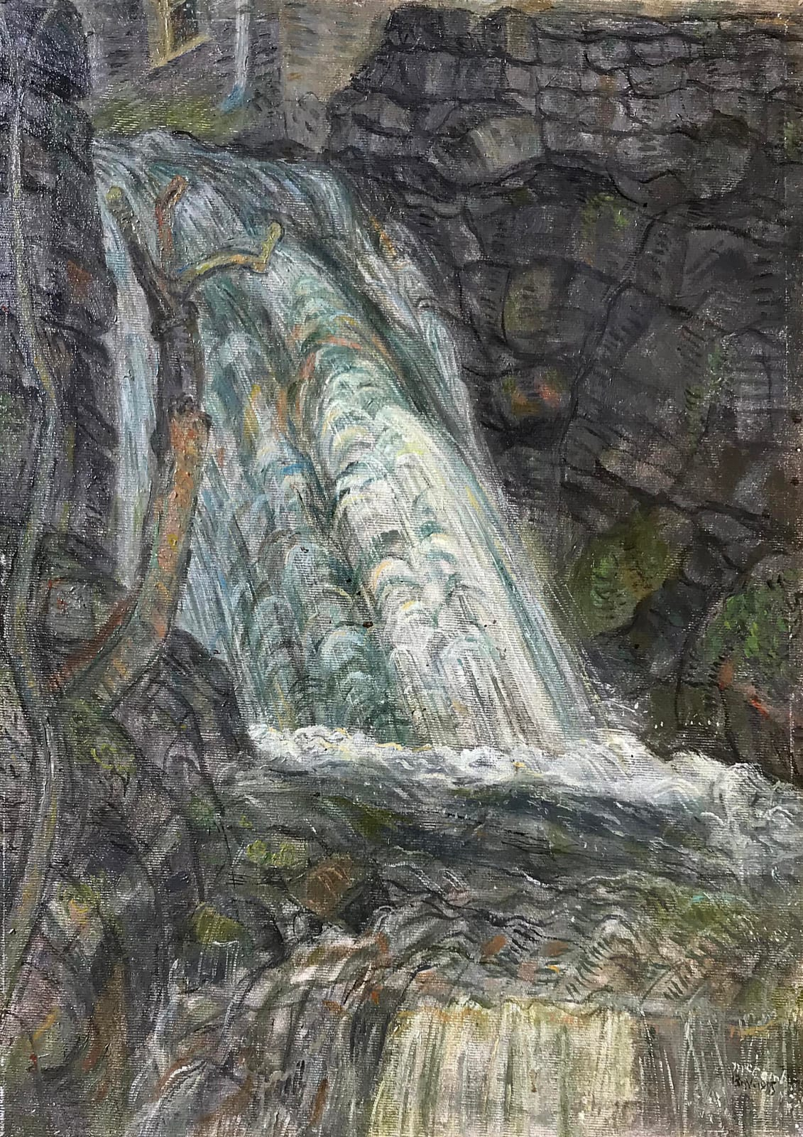 Leonard Mccomb, Waterfall, Anglesey, Wales, 1985