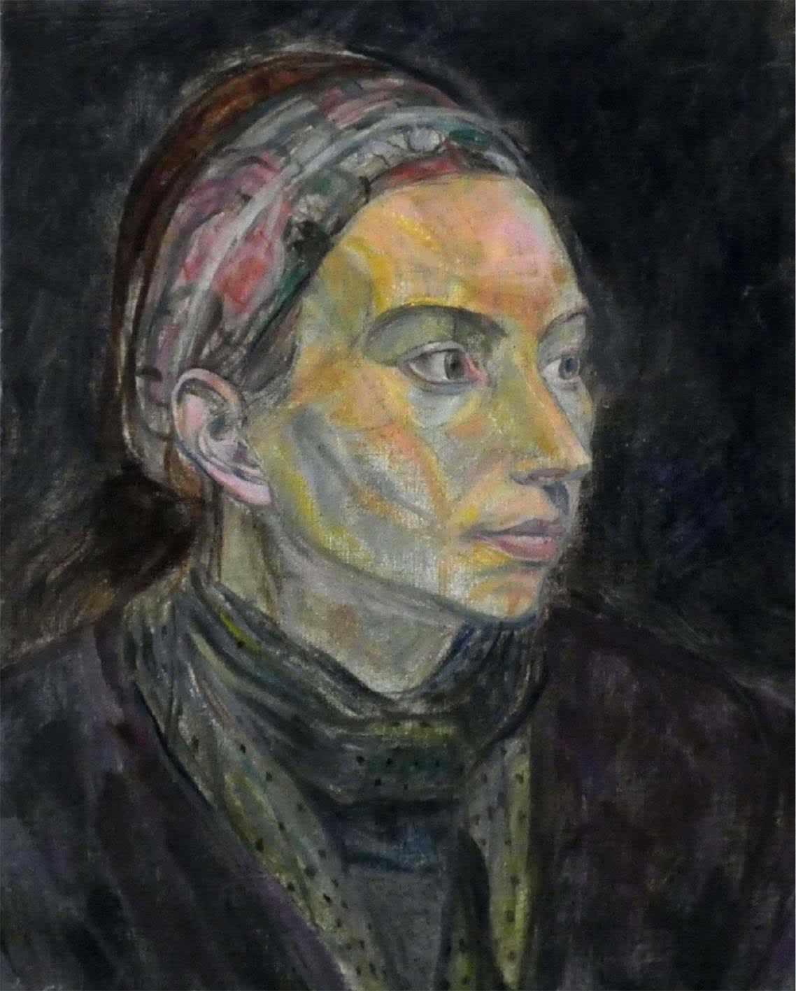 Leonard Mccomb, Portrait of a lady with a headscarf, circa 1999