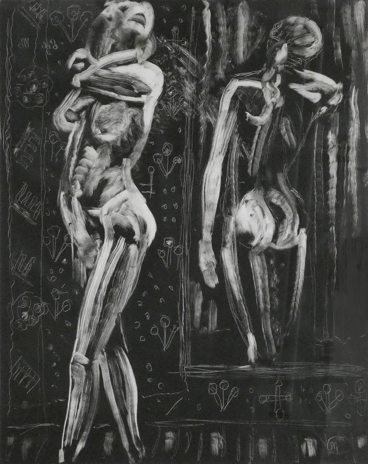 Leonard Mccomb, Standing nude with mirror, 2010