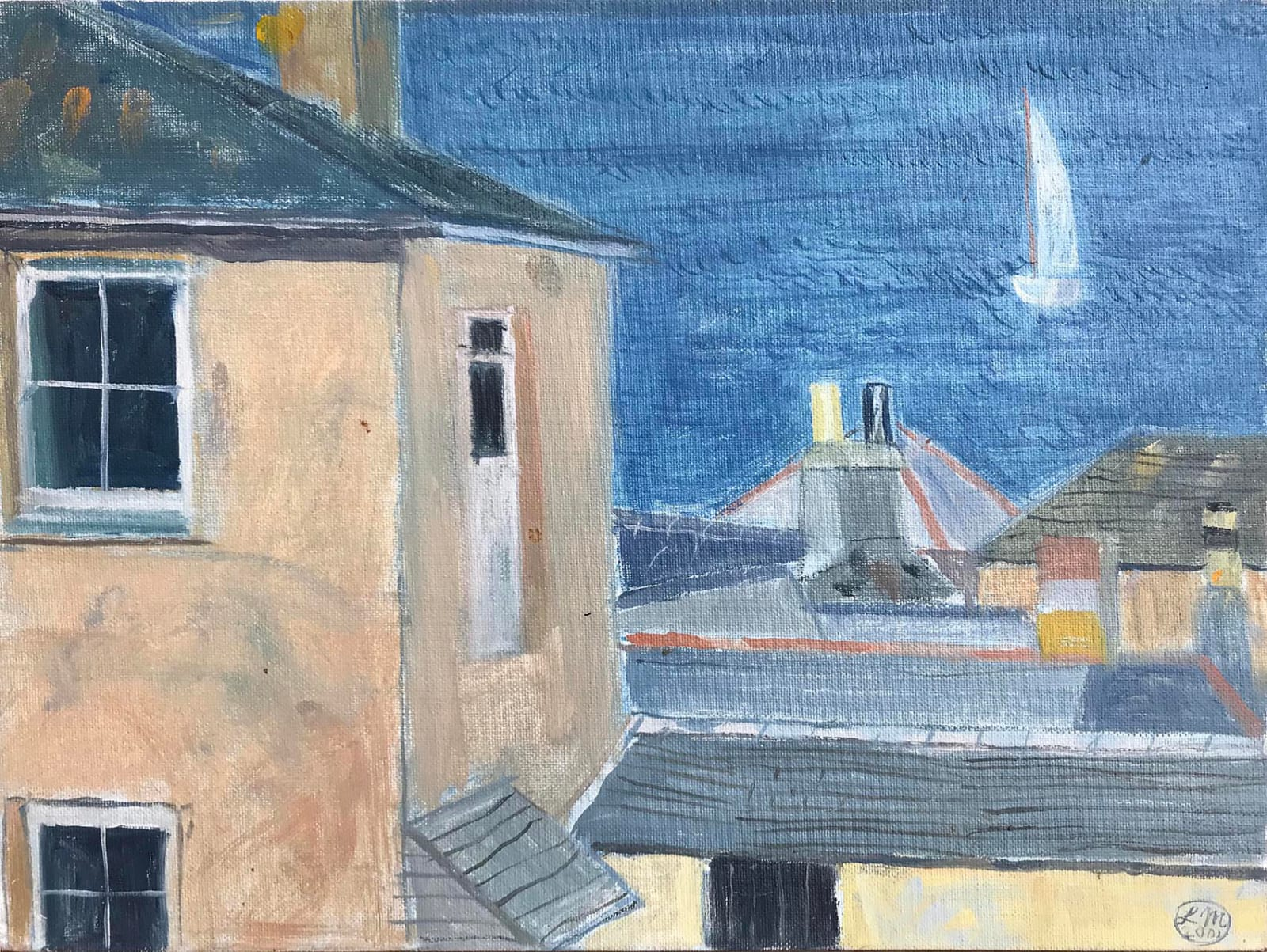 Leonard Mccomb, Sea View Past Houses, 2001