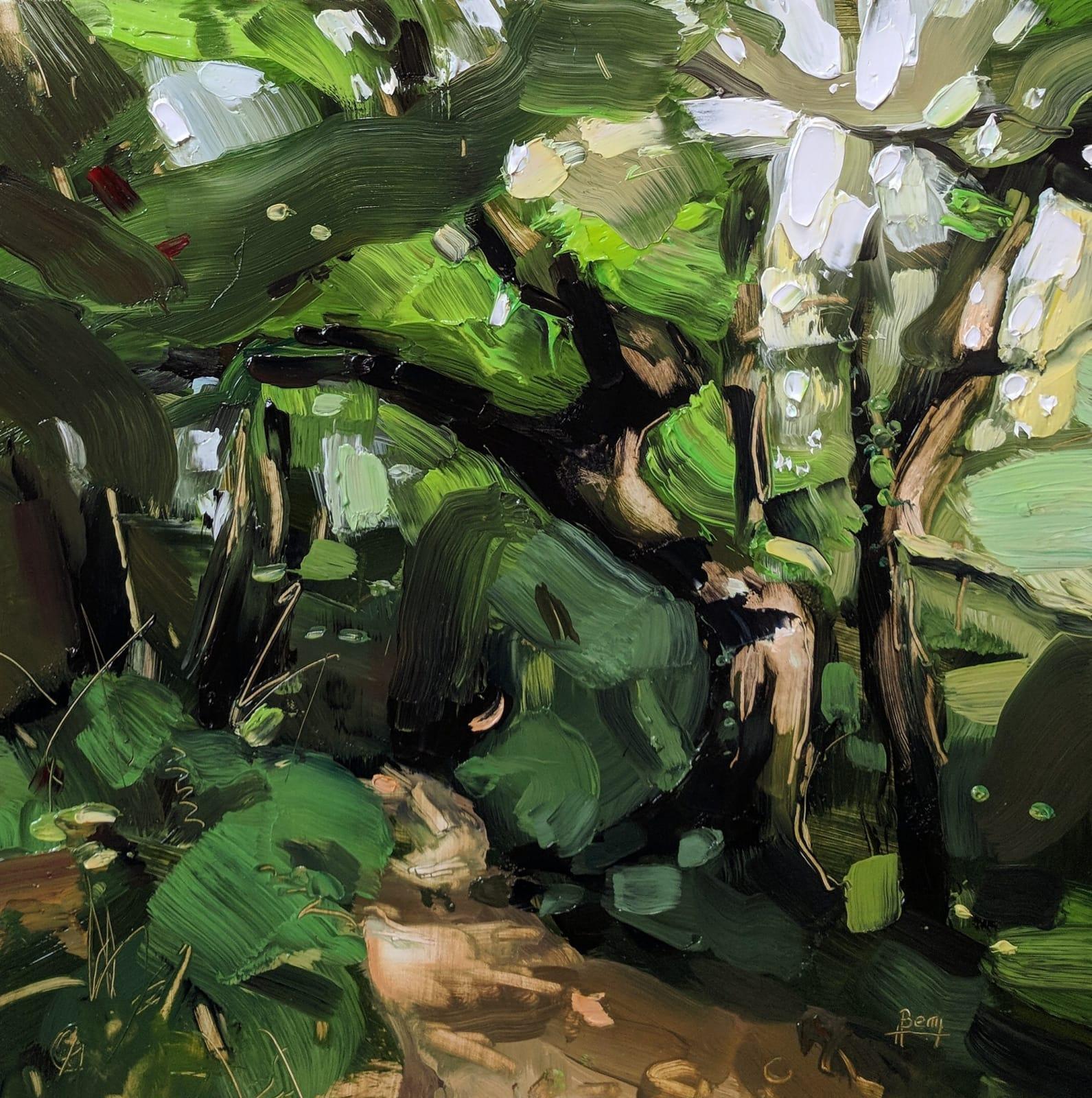 Hester Berry, A Green Bath. Beckland Wood, 2018