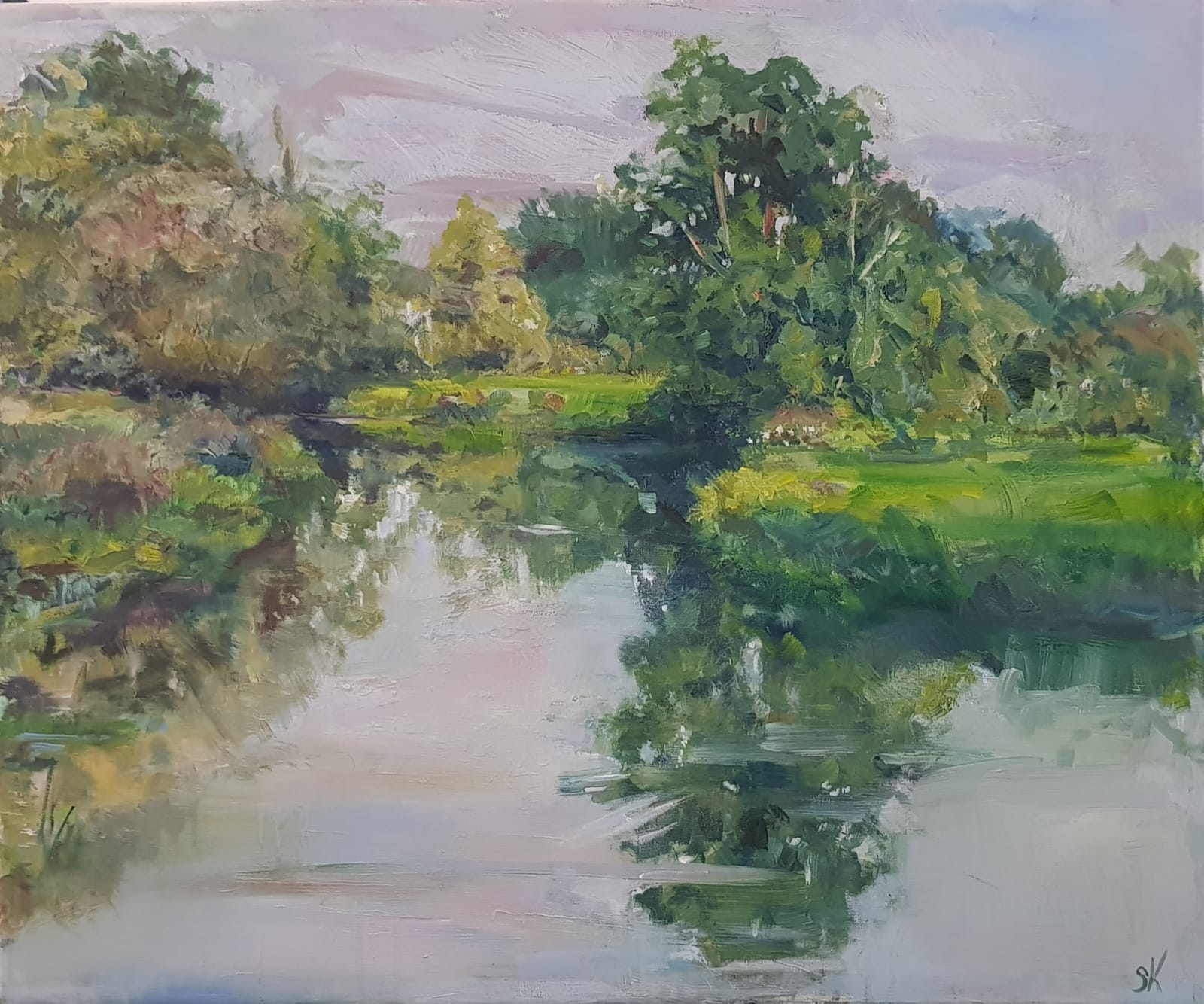 Stephen Kinder, RIVER WEY EARLY AUTUMN
