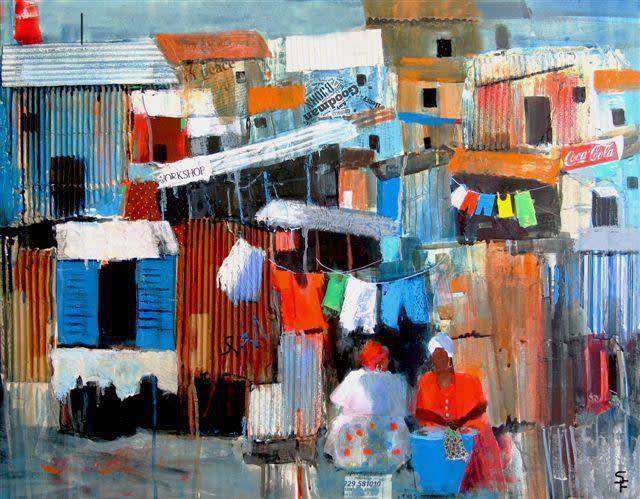 Soraya French, SHANTY TOWN WOMEN | Exhibition Artwork