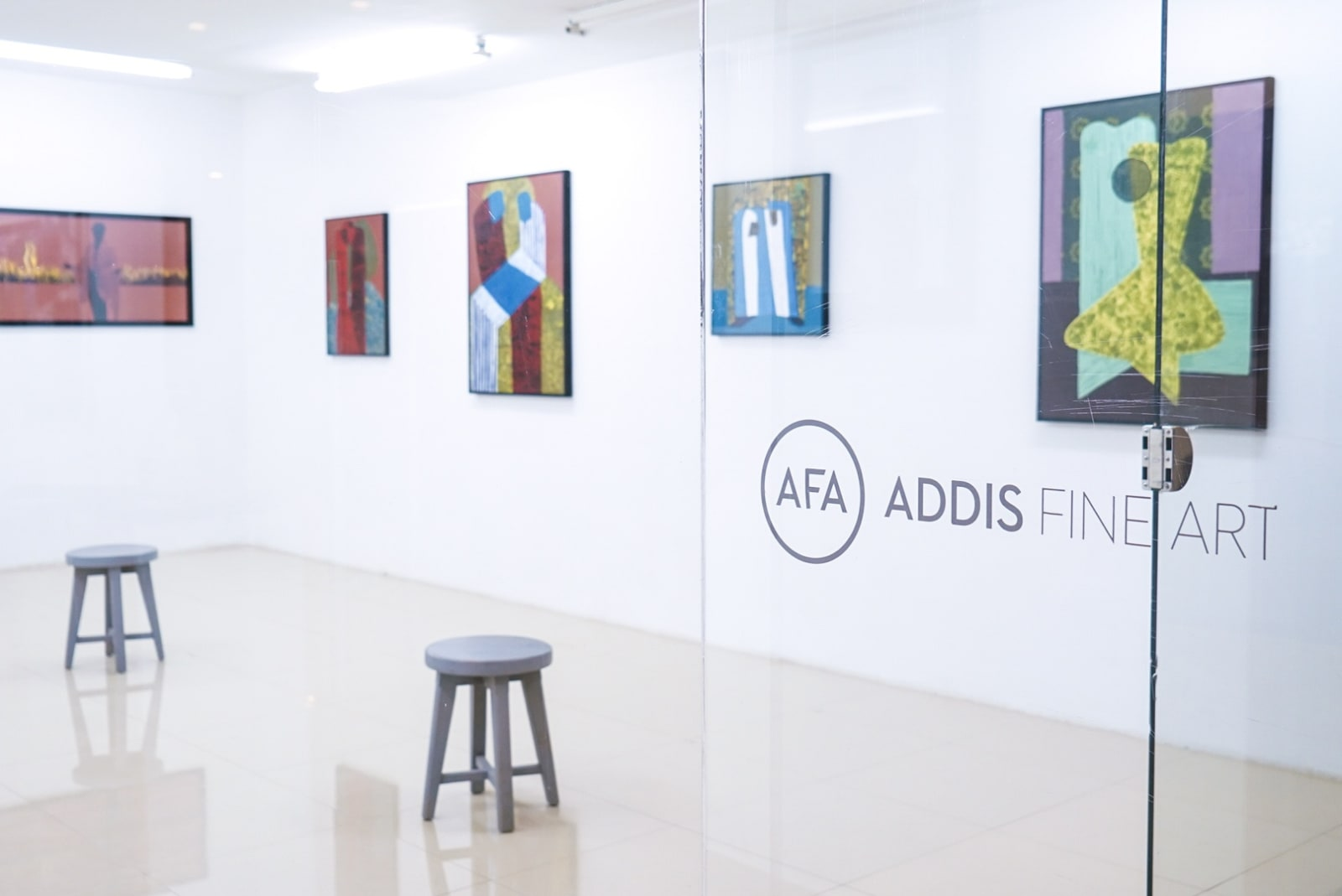 Installation view of Addis Calling IV, 2021. Courtesy of Addis Fine Art.
