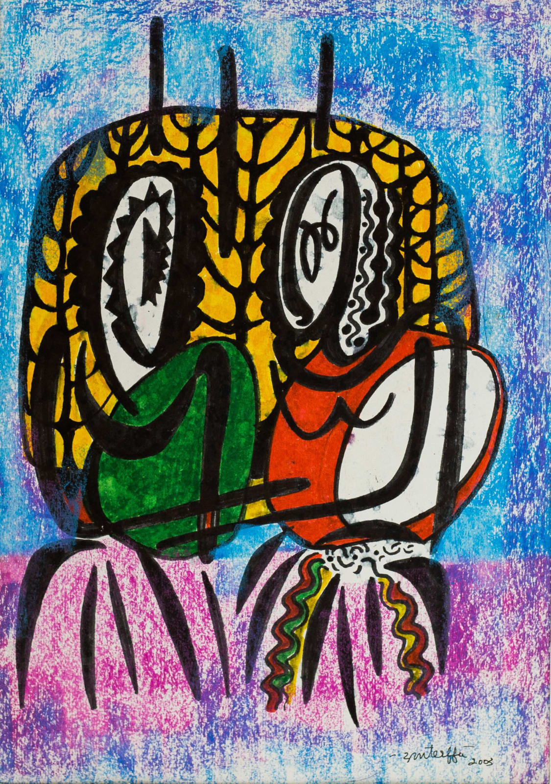 Tibebe Terffa , Untitled on Paper IX , 2003