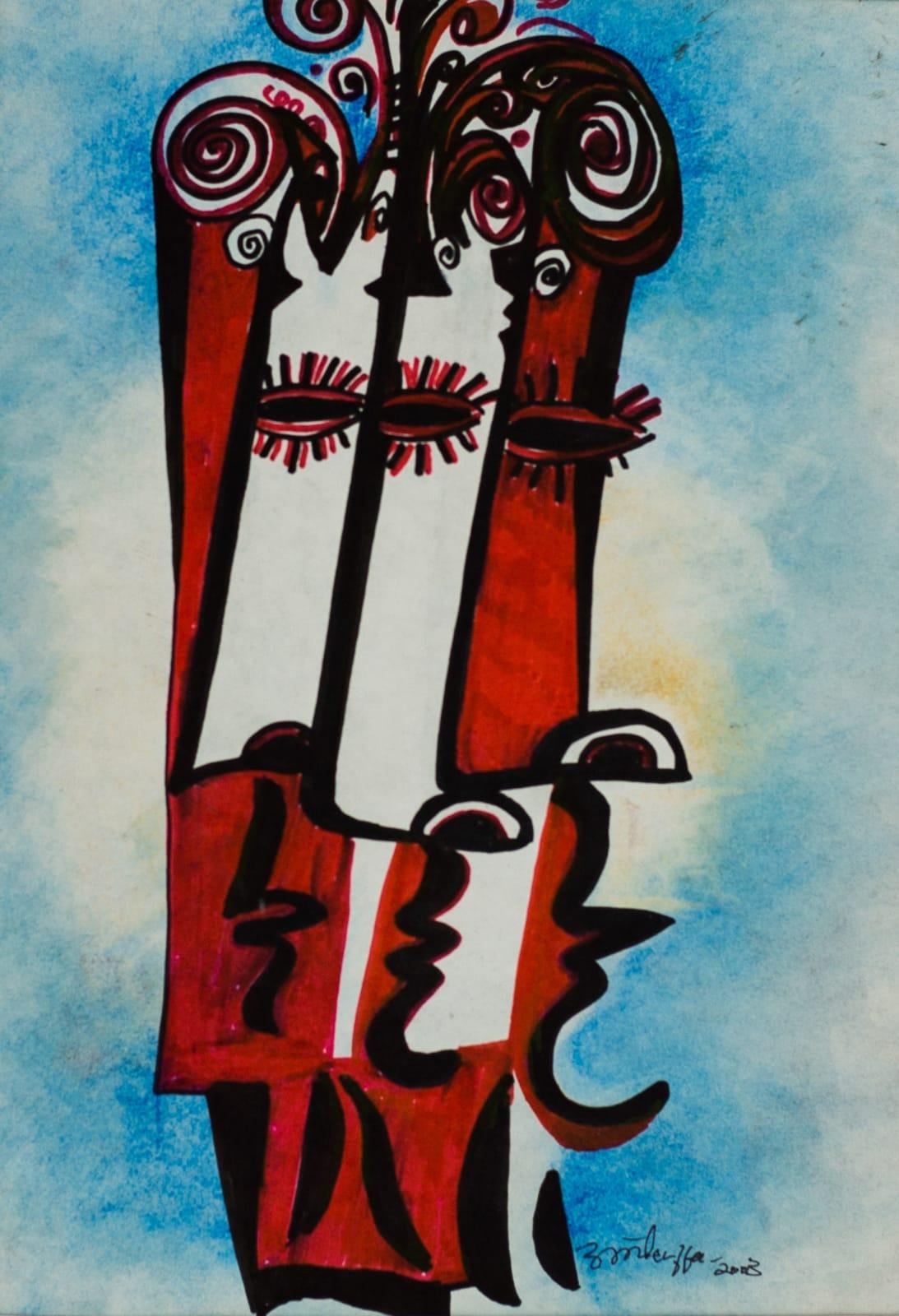 Tibebe Terffa , Untitled on Paper IV, 2003