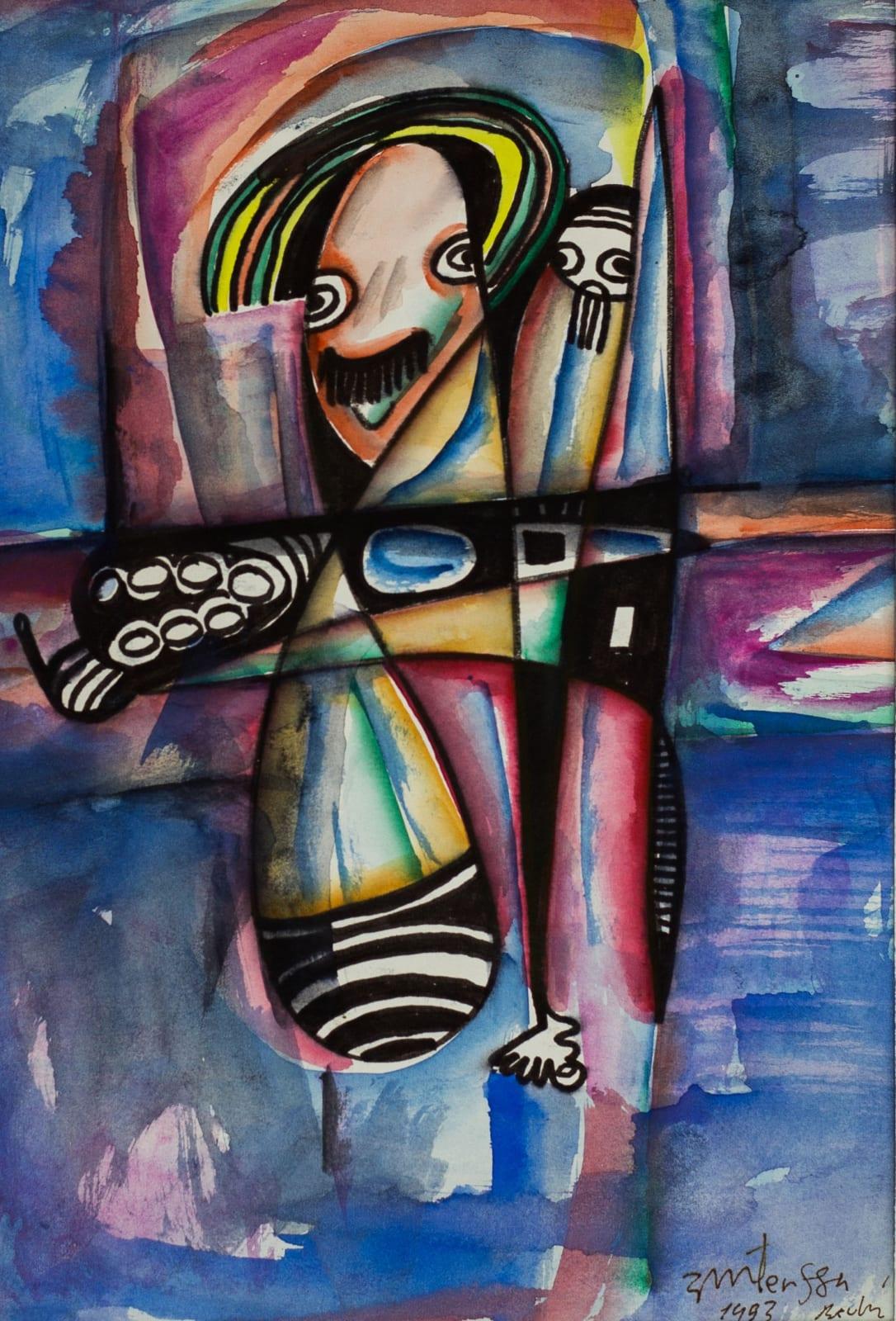 Tibebe Terffa , Untitled on Paper III, 2003