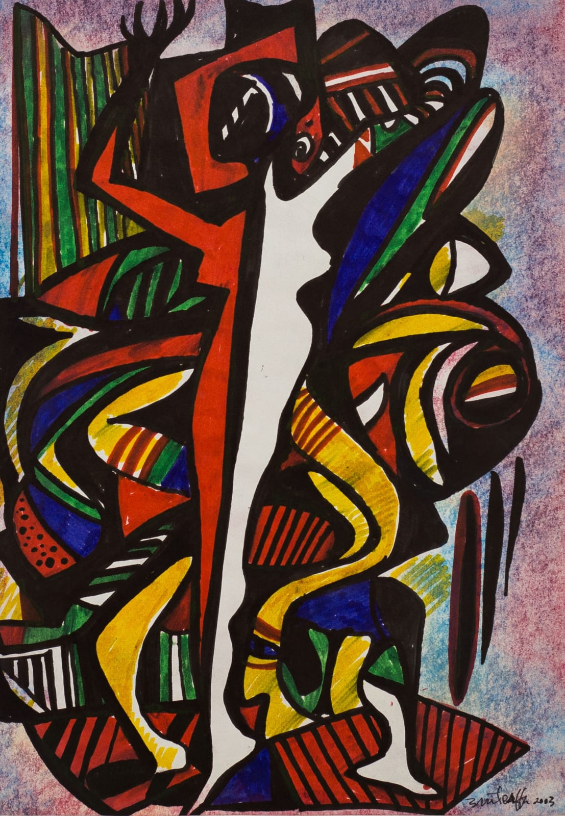 Tibebe Terffa , Untitled on Paper I, 2003