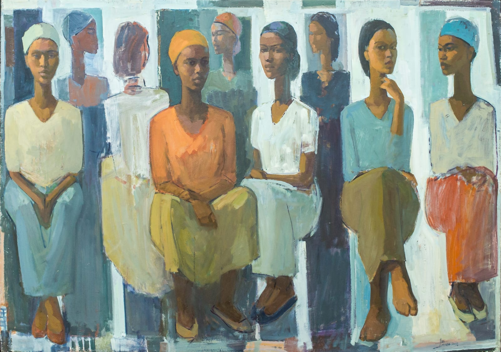 Tadesse Mesfin, Pillars of Life: Market Day, 2018