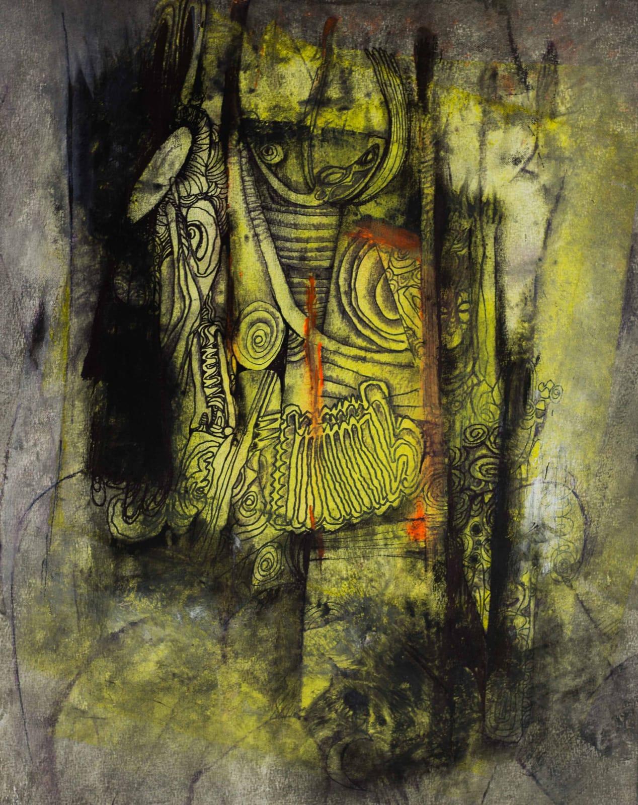 Tibebe Terffa , Untitled on Paper XII, 2015