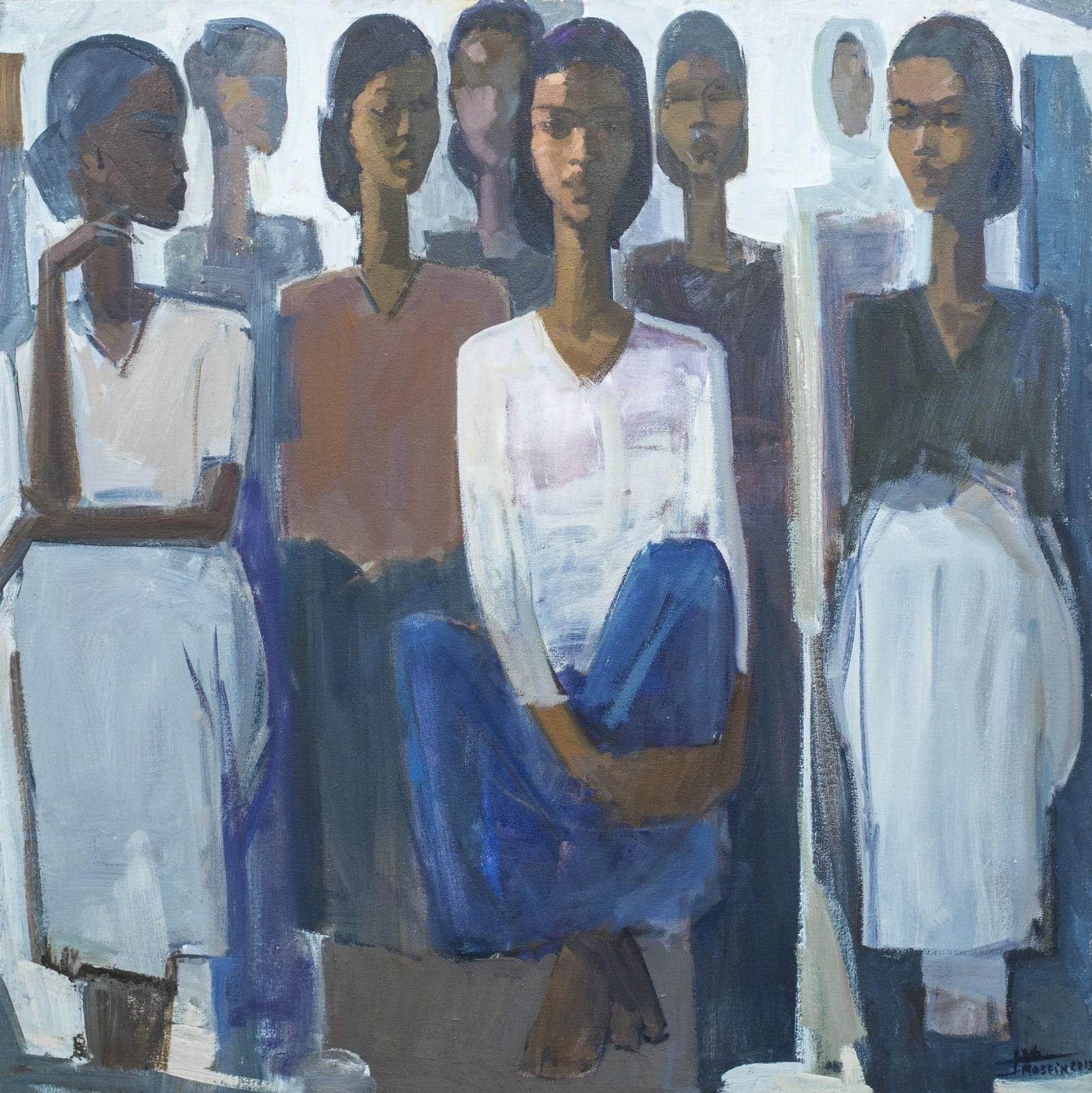 Tadesse Mesfin, Pillars of Life: Waiting, 2018