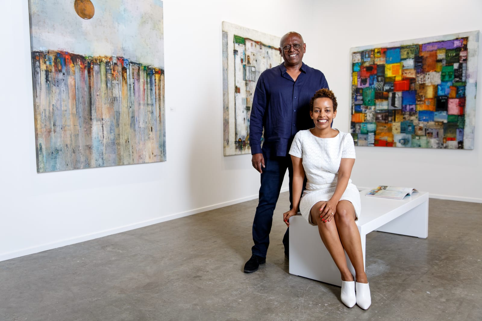 Addis Fine Art Founders Mesai Haileleul and Rakeb Sile. Courtesy of Addis Fine Art