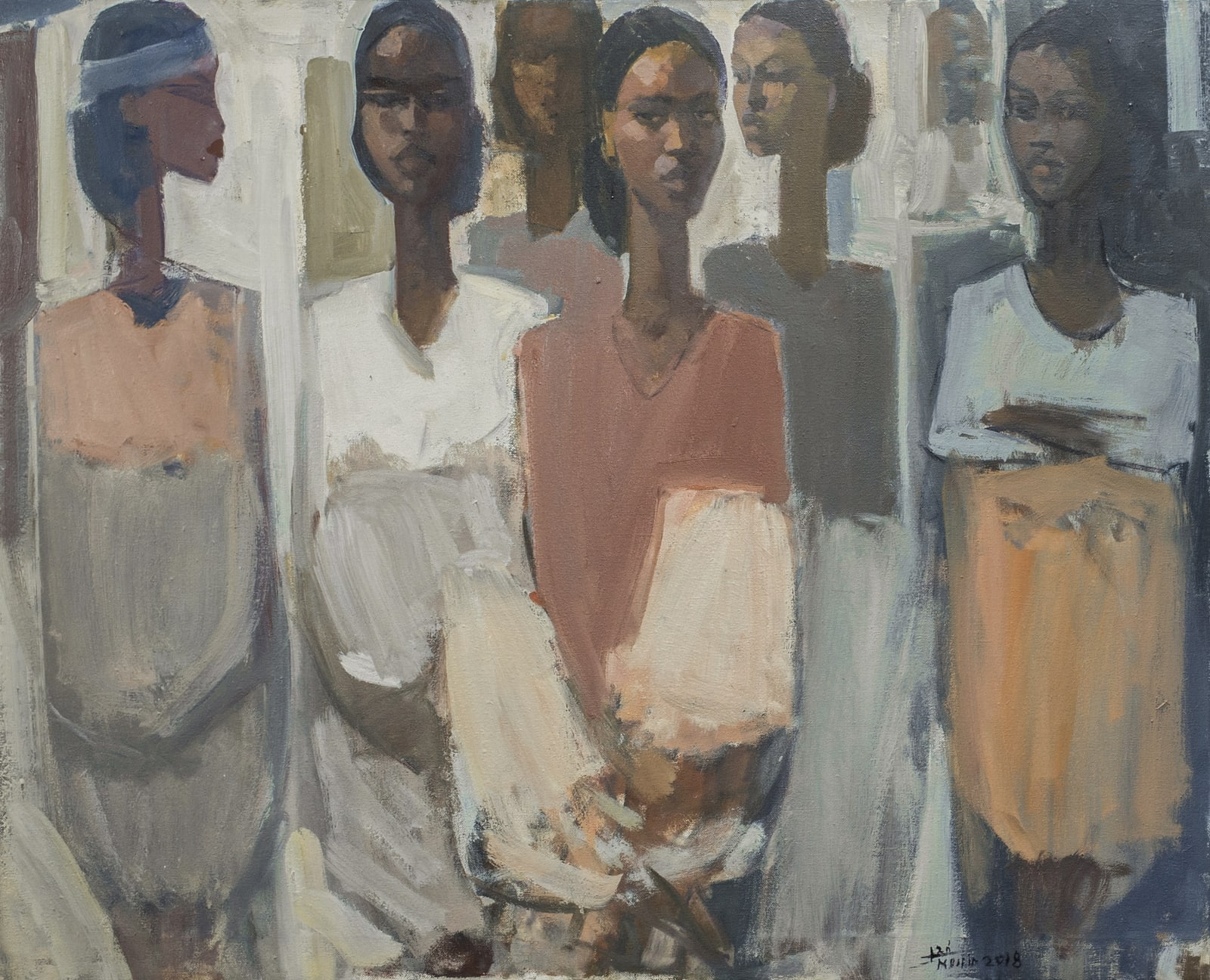 Tadesse Mesfin, Pillars of Life: Hope II, 2018. Courtesy of the Artist and Addis Fine Art