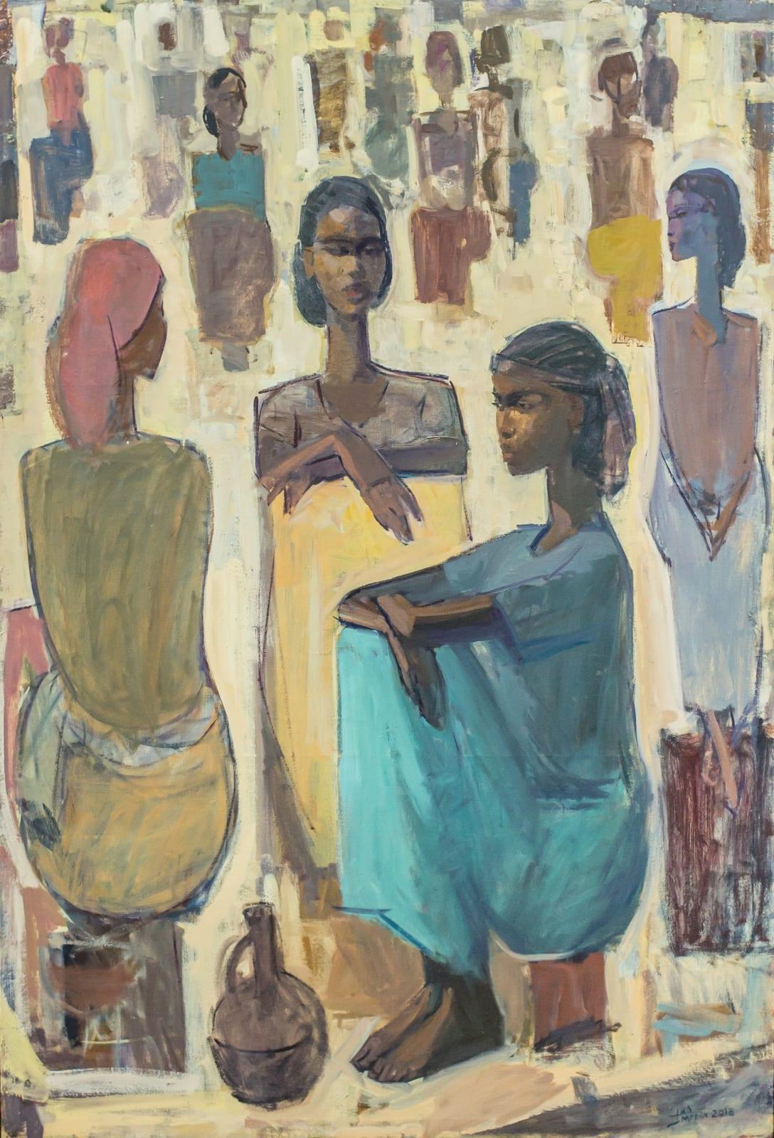 Tadesse Mesfin, Pillars of Life: Guleet, 2018. Courtesy of the Artist and Addis Fine Art