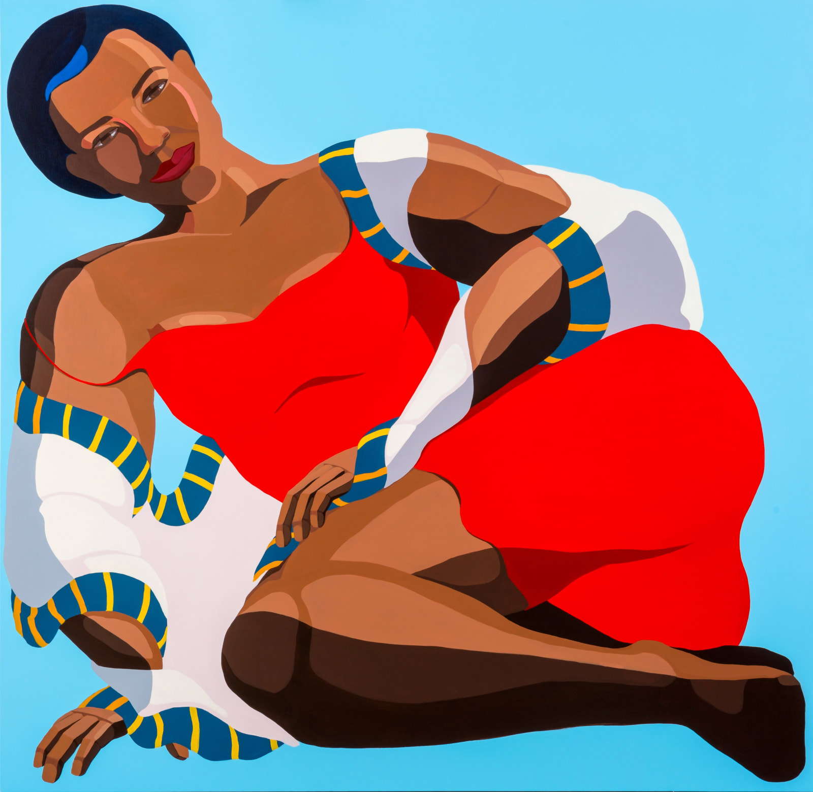 Nirit Takele, Woman in Red Dress, 2019. Courtesy of the Artist and Addis Fine Art