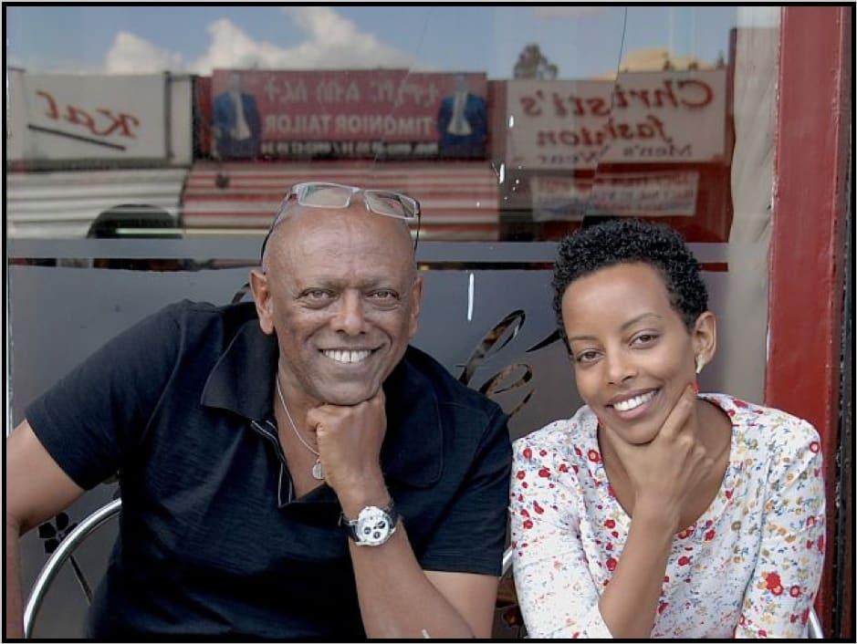 Addis Fine Art Founders Mesai Haileleul and Rakeb Sile. Courtesy of Addis Fine Art