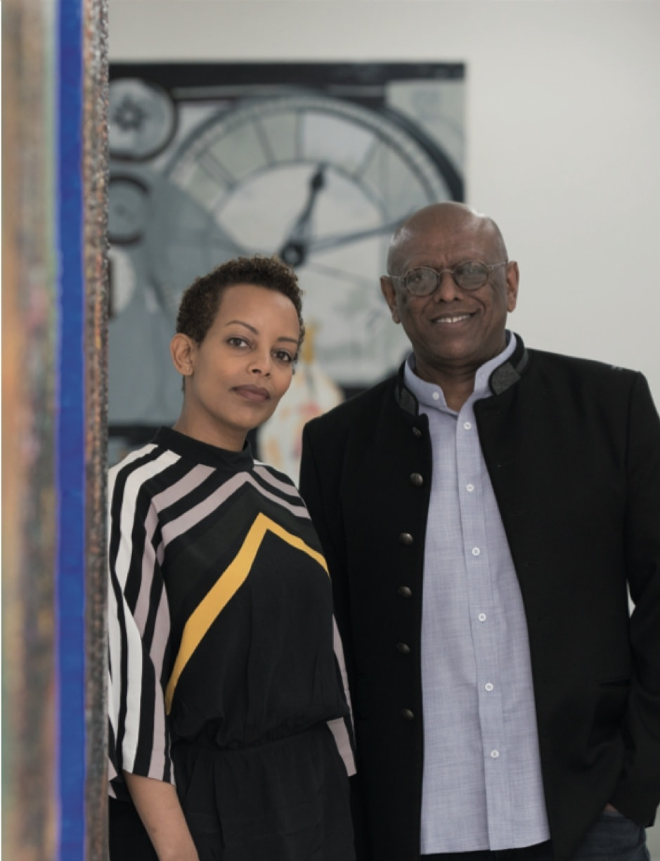Addis Fine Art Founders Mesai Haileleul and Rakeb Sile. Photograph by Zacharias Abubeker