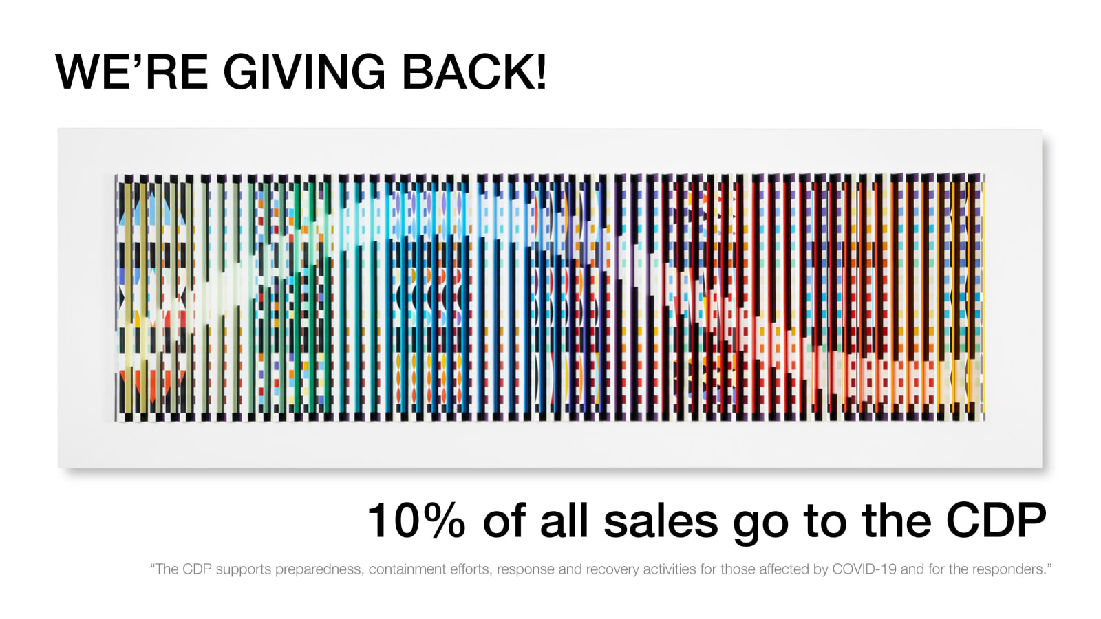 Ai Bo gives back, 10% of all sales go to CDP