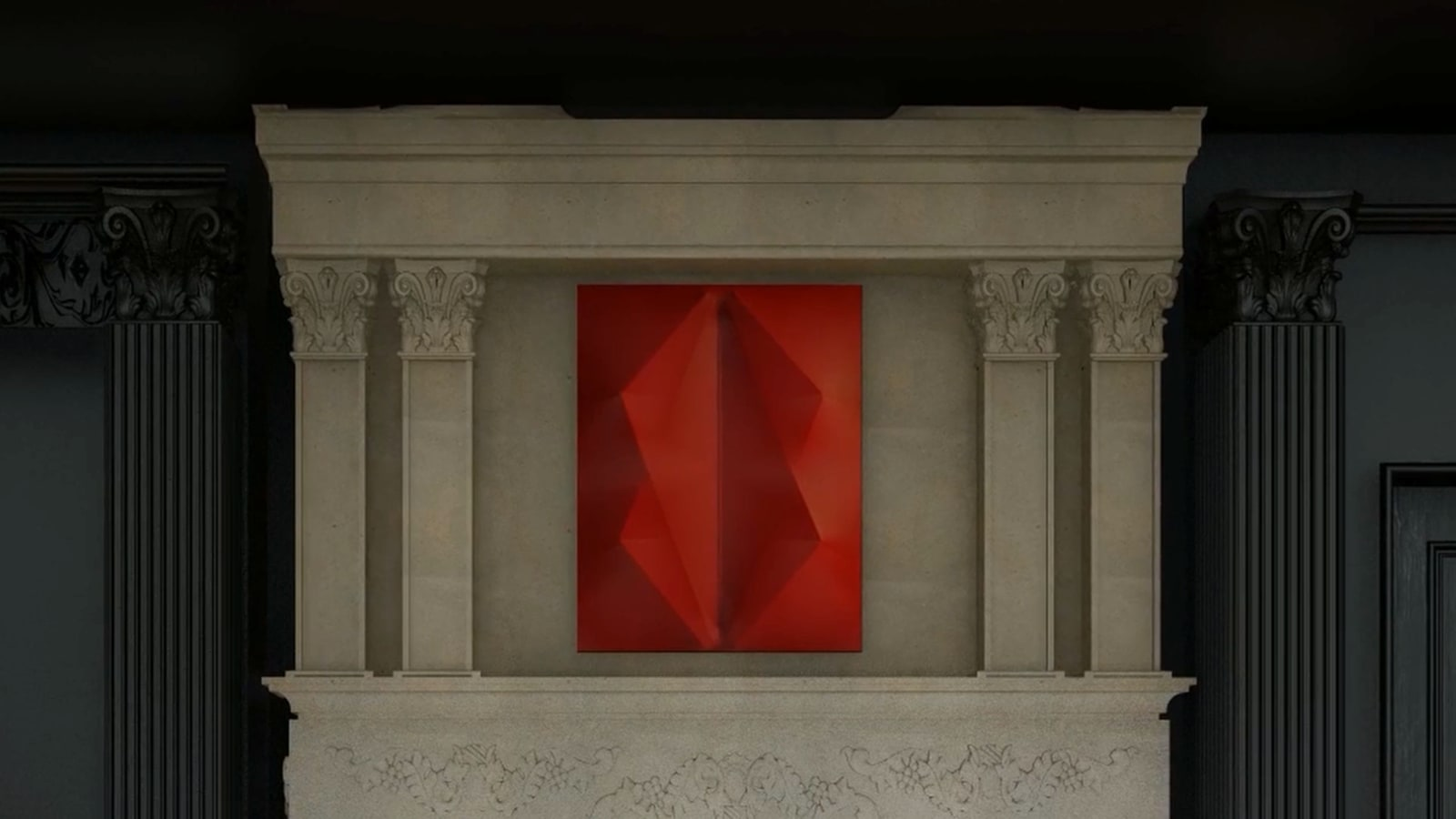 AGOSTINO BONALUMI Rosso, 2012 90 x 70 cm