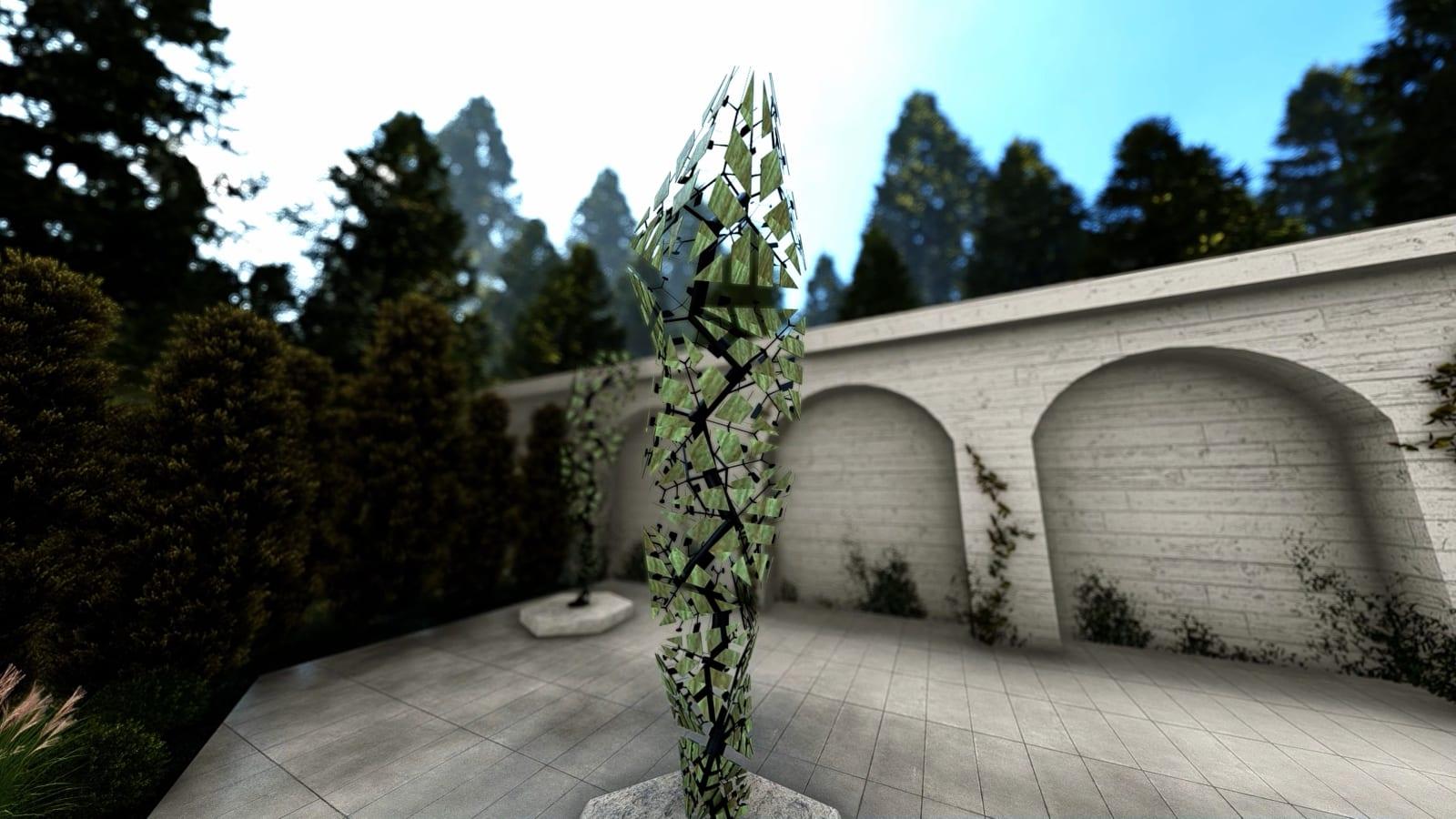 CONRAD SHAWCROSS The Fracture - Four Seasons, Summer, 2020 400 cm tall