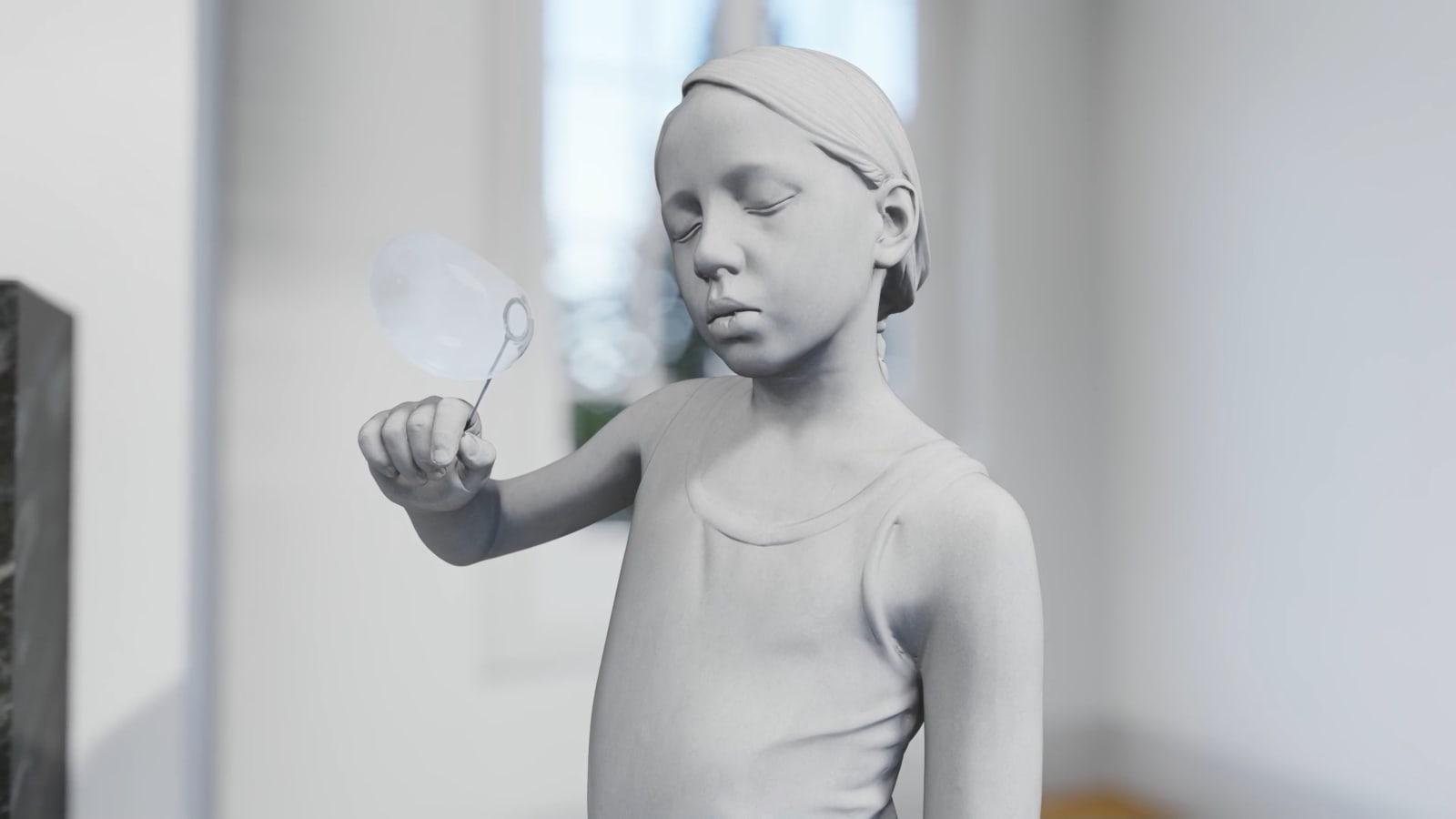 HANS OP DE BEECK Tatiana (Soap Bubble), 2017 123 x 48 x 36 cm