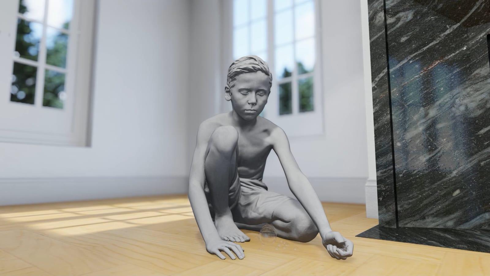 HANS OP DE BEECK Timo (Marbles), 2018 42 x 67 x 65 cm