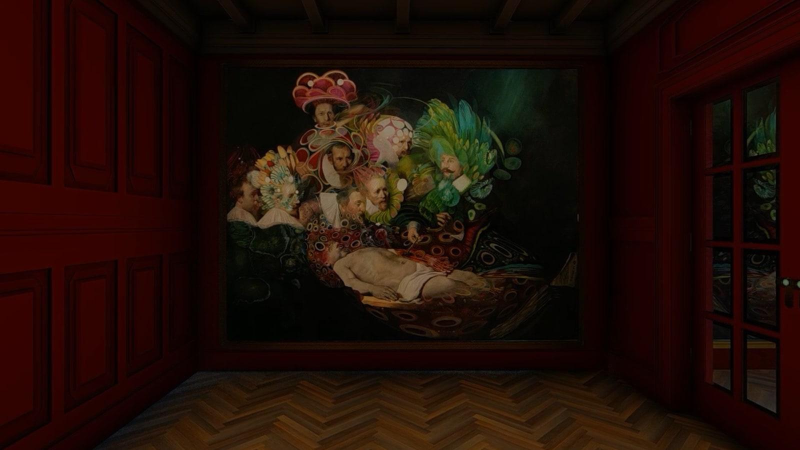 WOLFE VON LENKIEWICZ The Anatomy Lesson of Dr Tulp, 2018 220 x 170 cm