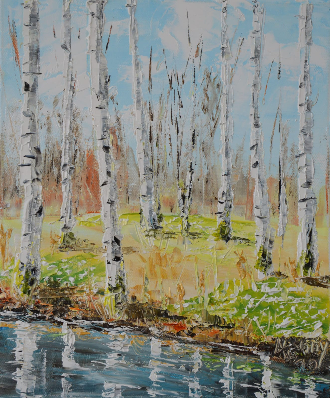 Jenny Wilson, Birches and Loved Ones , 2020