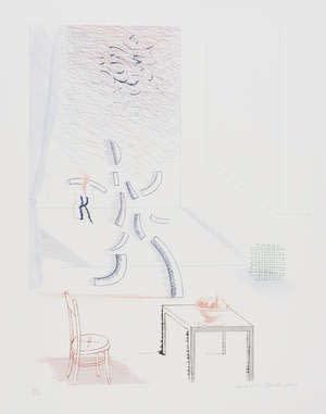 David Hockney RA, Tick it, Tock it, Turn it True, 1976-77