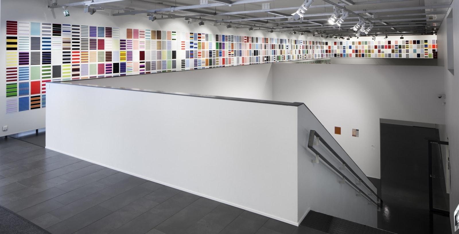 Jacob Dahlgren Installation view, Stripes and Coloured Circles, Art Museum Centre Sinkka, Kervo, Finland, 2015