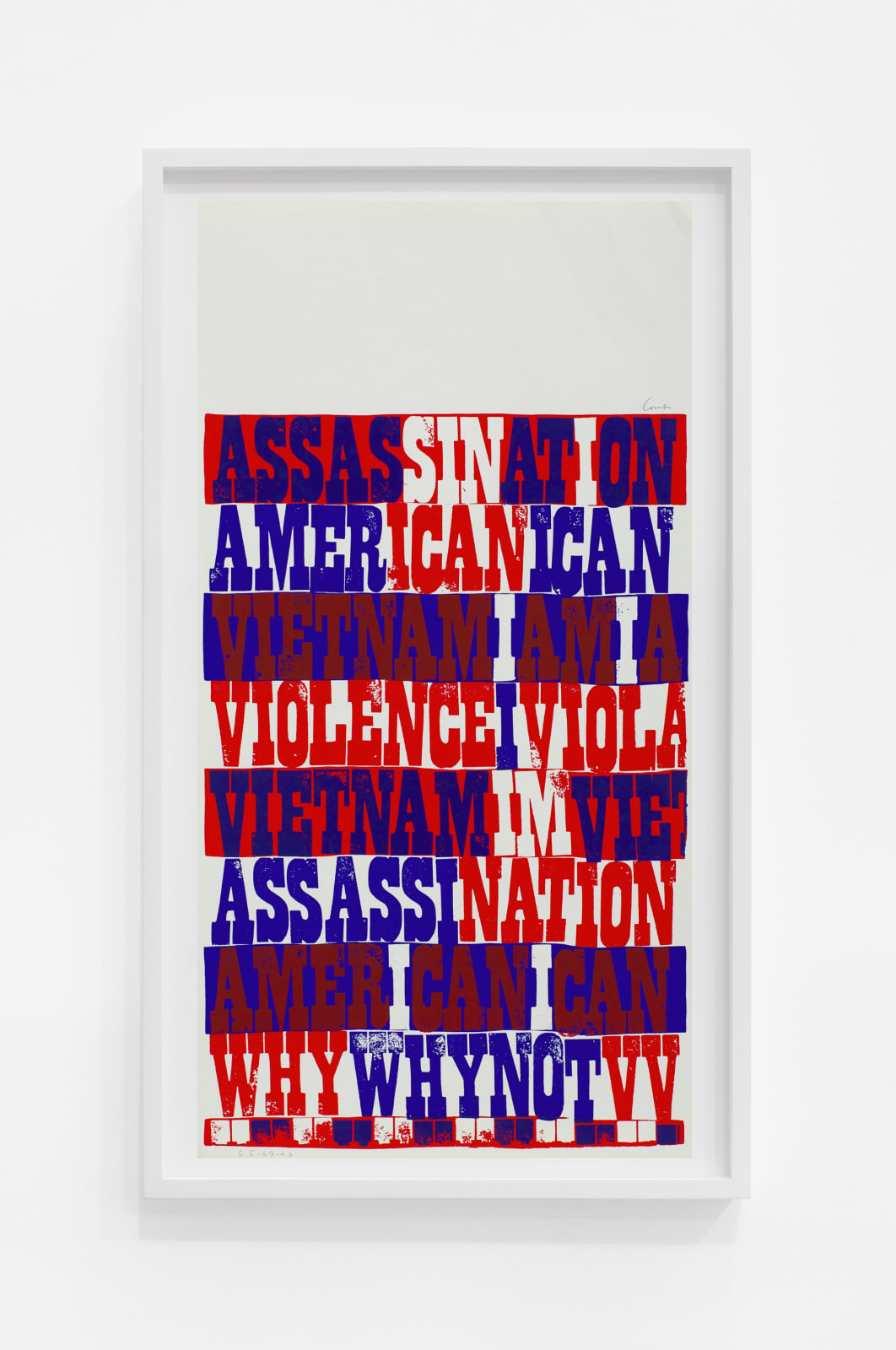 Corita Kent american sampler, 1969 Screenprint 22 1/2 x 11 1/2 in (57.2 x 29.2 cm) $6,000.00
