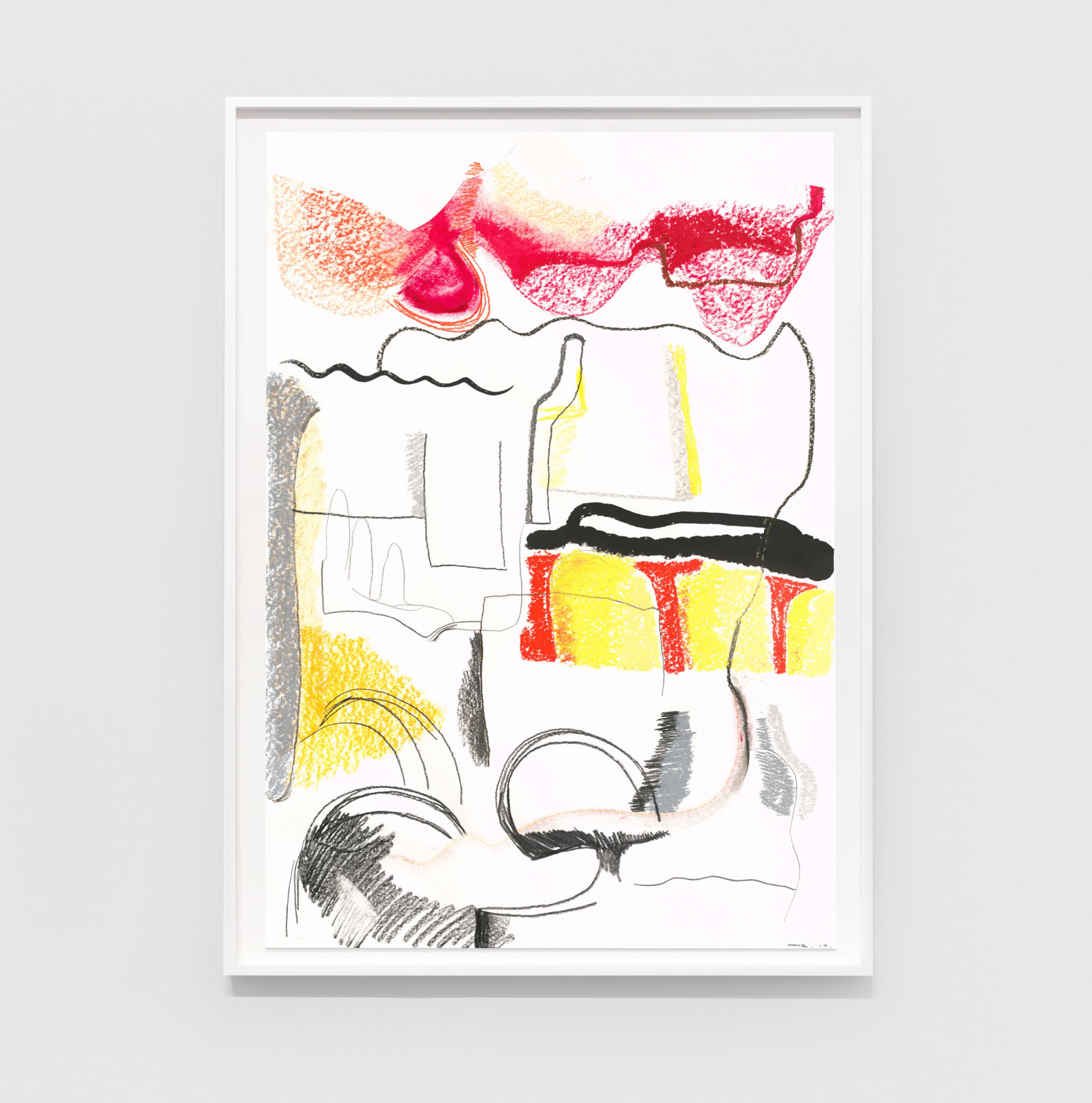 He Xiangyu Palate 19-1-24, 2019 Charcoal, pencil, colored pencil, oil stick, Japanese ink, acid-free oil-based marker, acid-free glue on paper 39 3/8 x 27 9/16 in (100 x 70 cm) $10,500