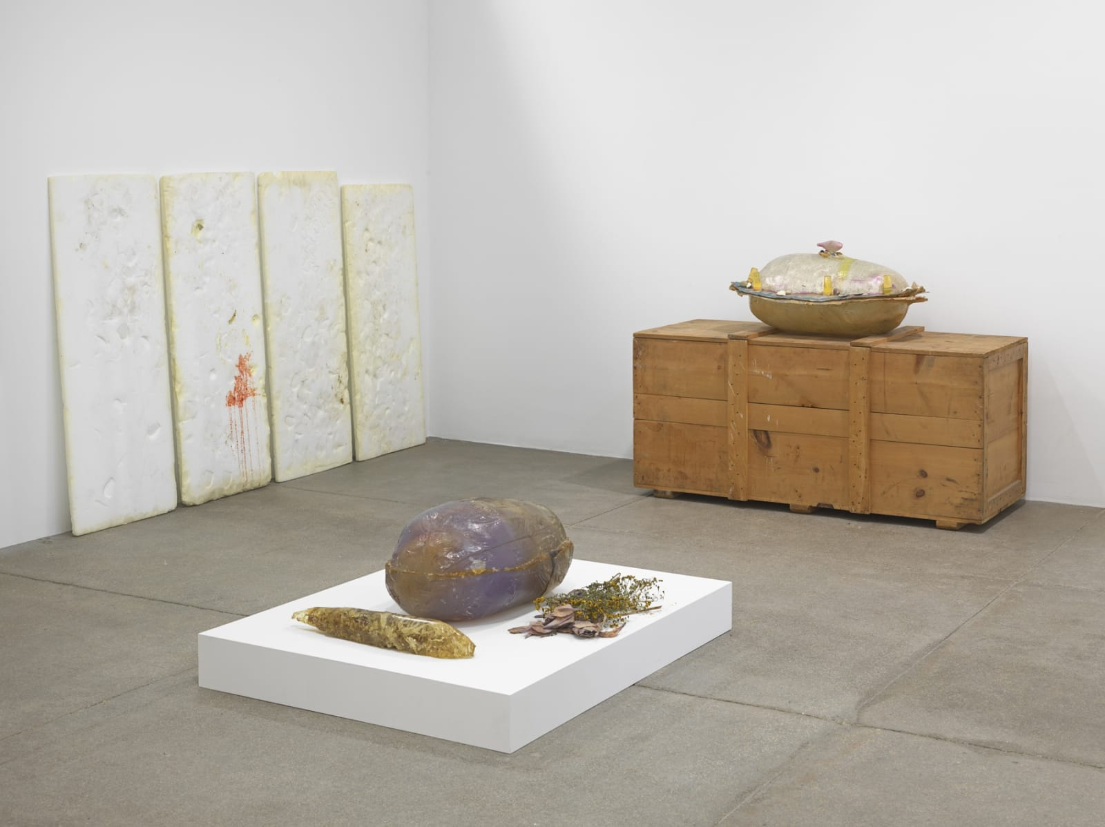 Barbara T. Smith Holy Squash, 1971 Installed dimensions variable