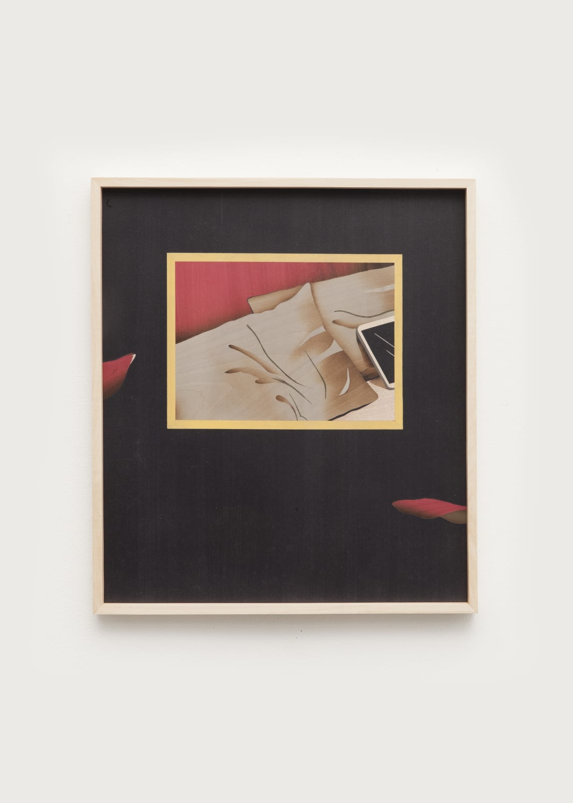 Camille Blatrix Day 7, 2020 Maple, wooden marquetry 13 3/4 x 11 7/8 x 7/8 in (35 x 30 x 2.1 cm)