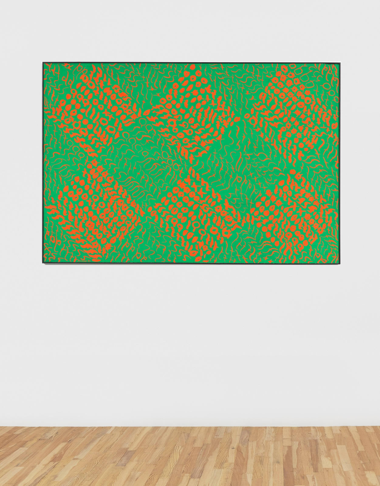 Carla Accardi Verdearancio n. 2, 1964 Casein on canvas 38 1/5 x 55 9/10 in (97 x 142 cm)