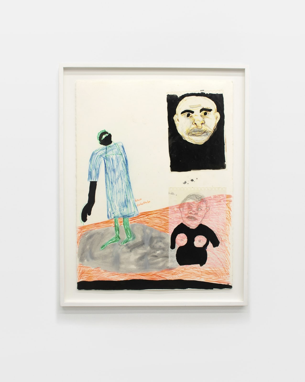 Moshekwa Langa Kwa-Dokotela, 2007 Mixed media on paper 30 3/10 x 22 4/10 in (77 x 57 cm)