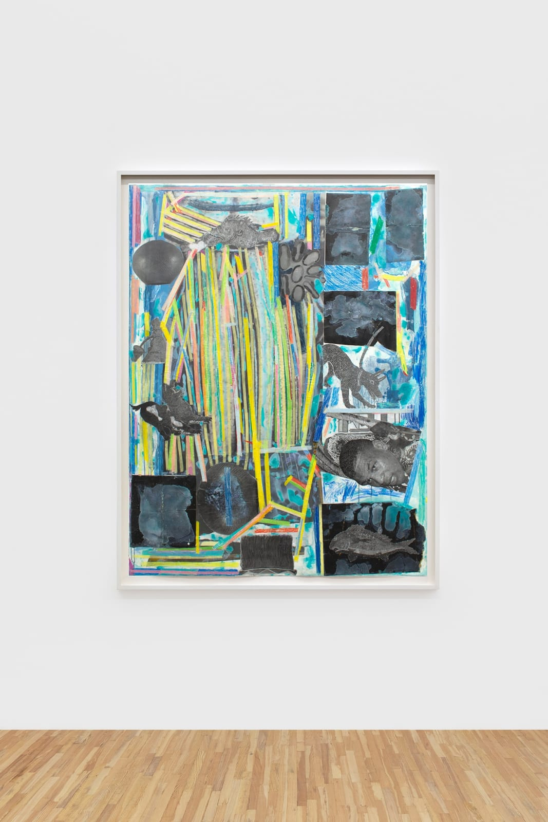 Moshekwa Langa Proximities, 2017 Mixed media on paper framed: 68 1/2 x 52 3/8 x 2 in (174 x 133 x 5.1 cm)
