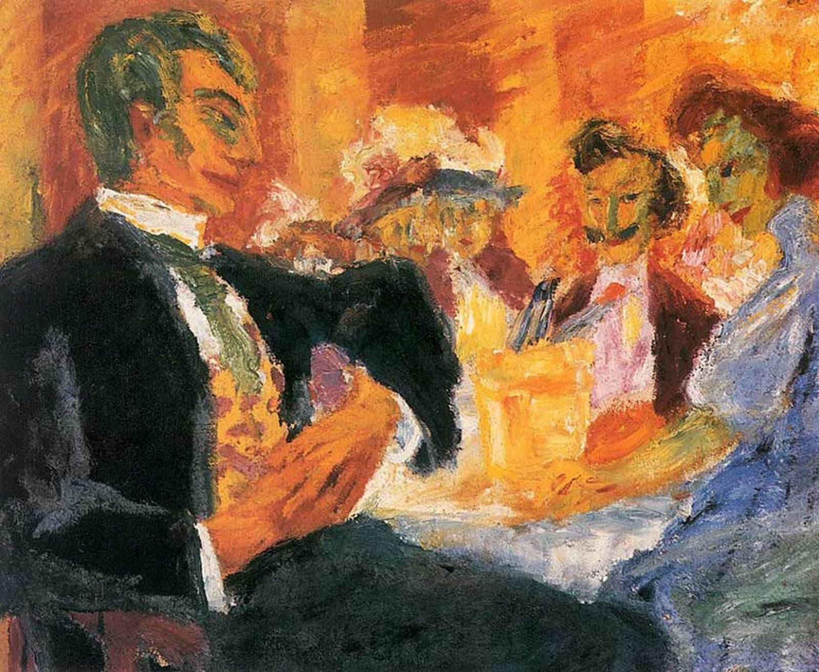 Emil Nolde (1867-1956) At The Caf
