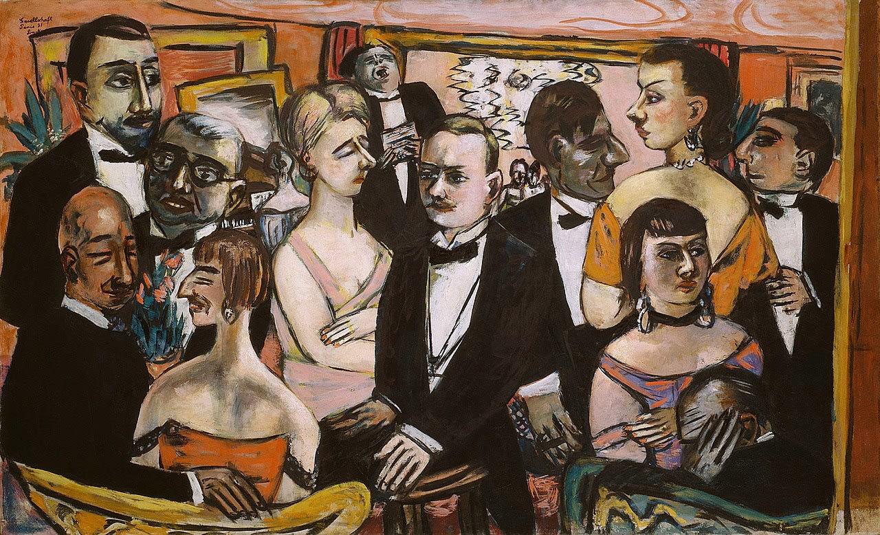 Max Beckmann (1884-1950) Paris Society