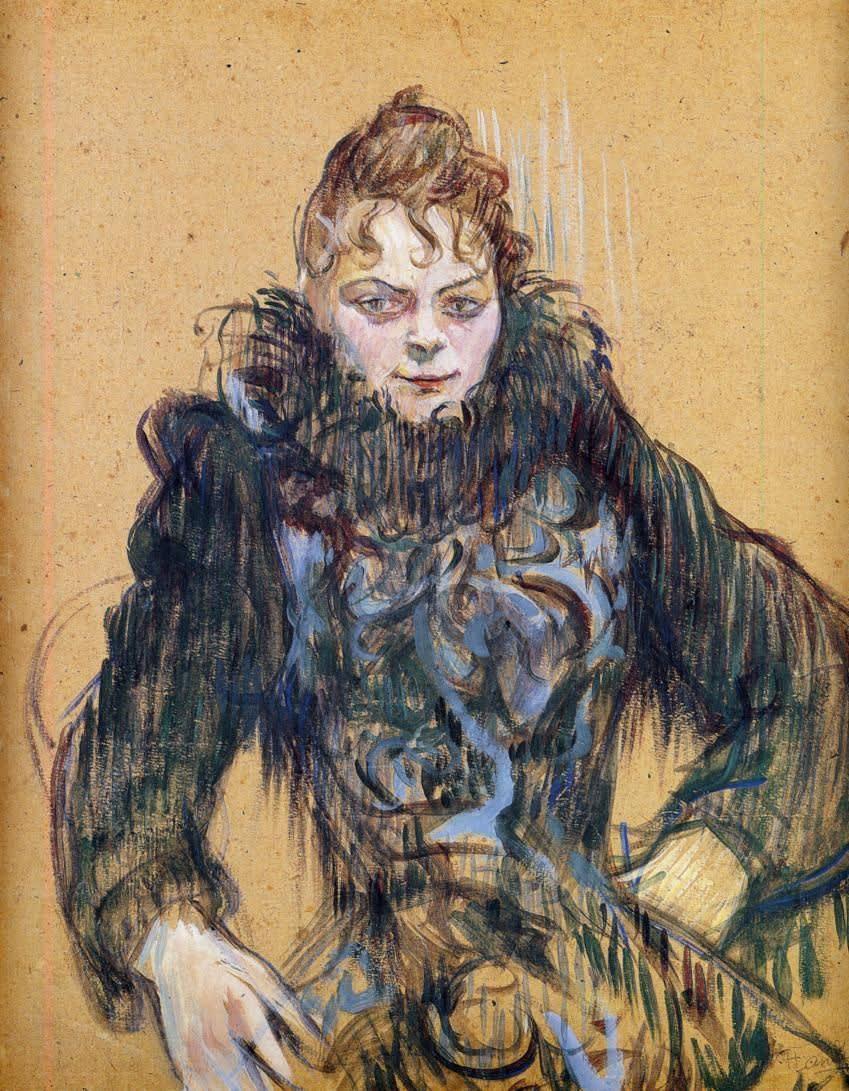 Henri Toulouse Lautrec (1864-1901) Woman in a Black Boa