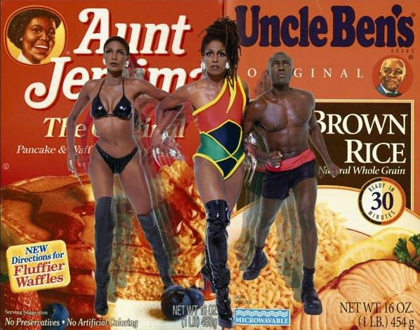 Renee Cox Liberation of Aunt Jemima and Uncle Ben, 1998 48.5 x 61.5 inches