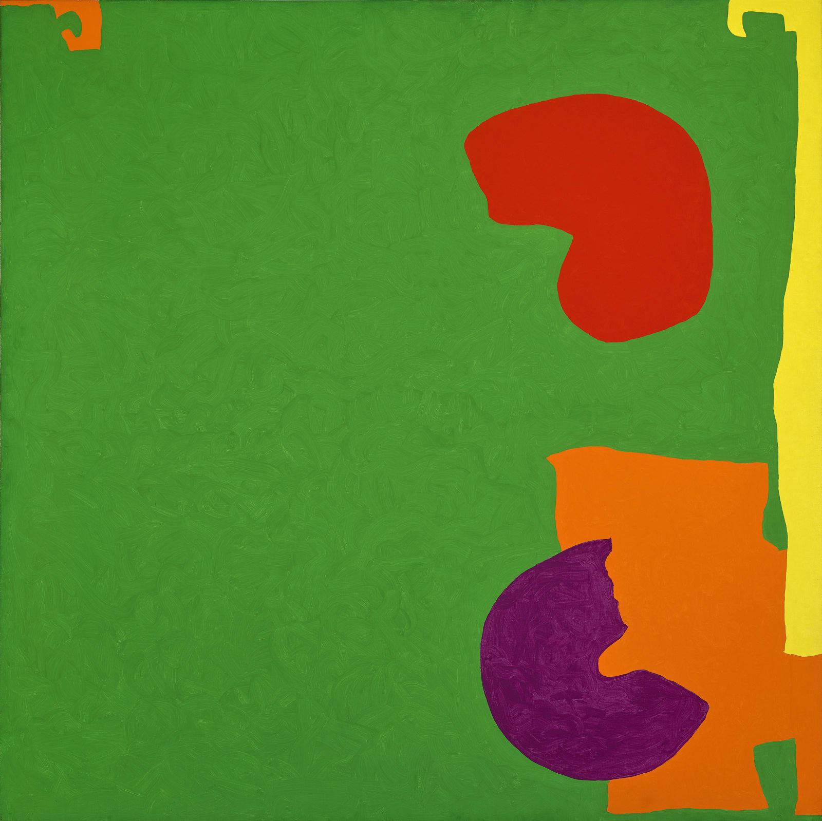 Square Green with Orange, Violet and Lemon : 1969
