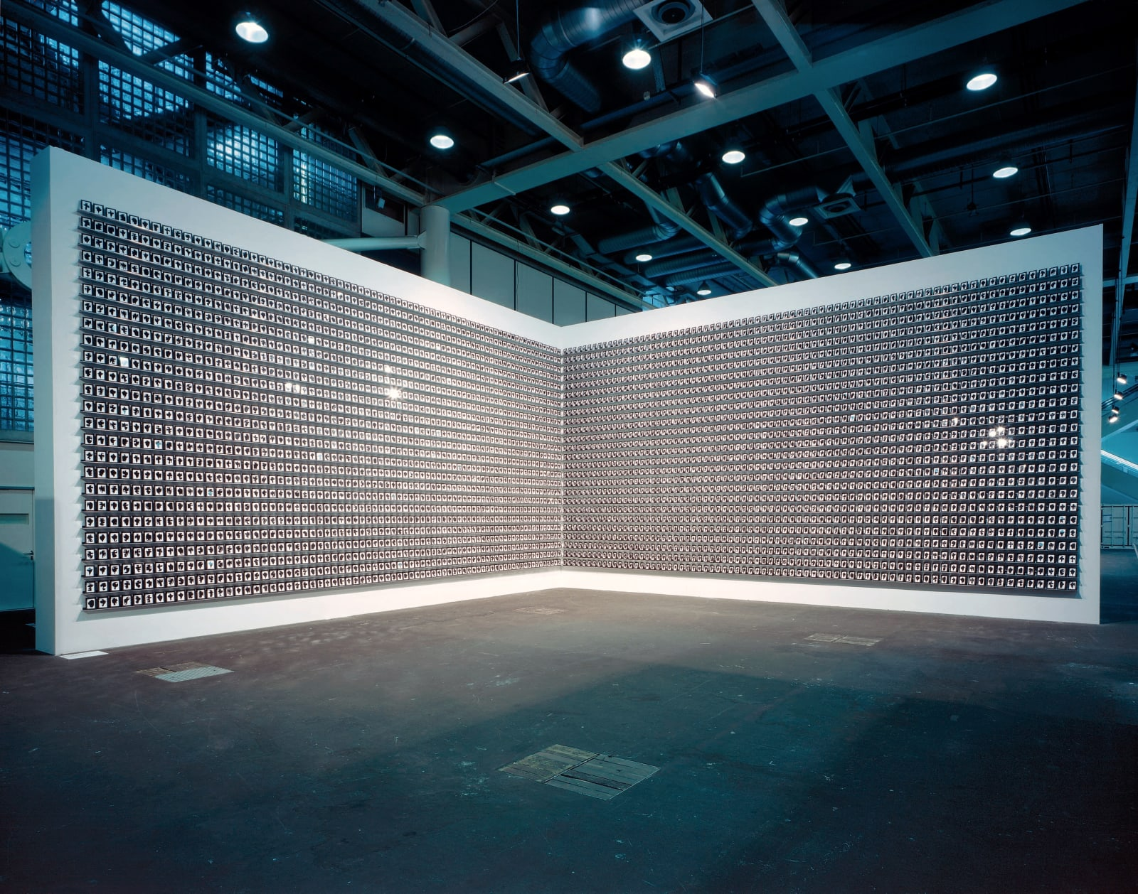 The Shapes Project (2005- ): Monoprints (2006), Installation view at Art Basel, Unlimited, 2007