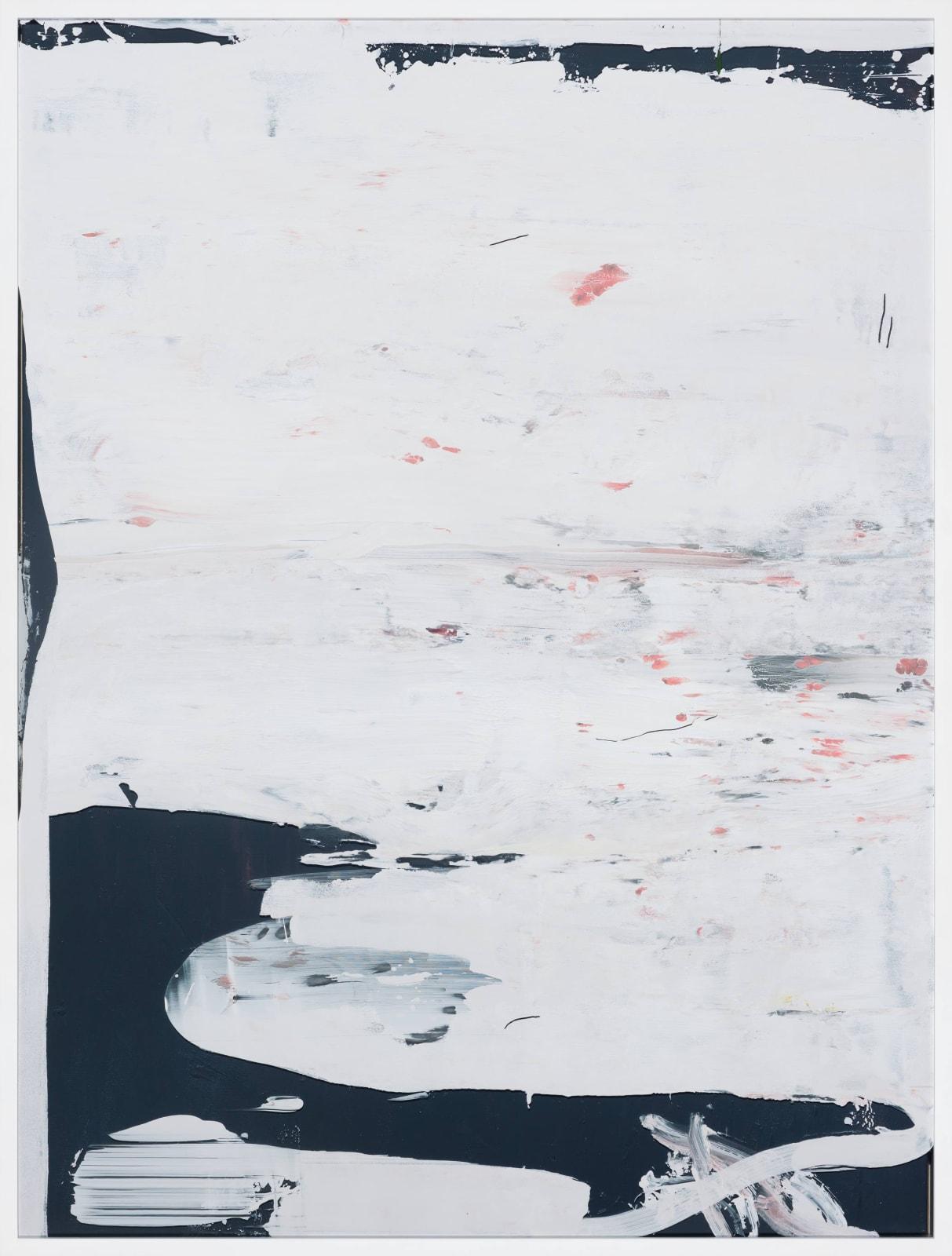 Shimokita-hantō, 2018/2019 Acrylic, gesso and lacquer on glass 165.5 x 125.8 x 6 cm | 65 1/4 x 49 1/2 x 2 1/3 in