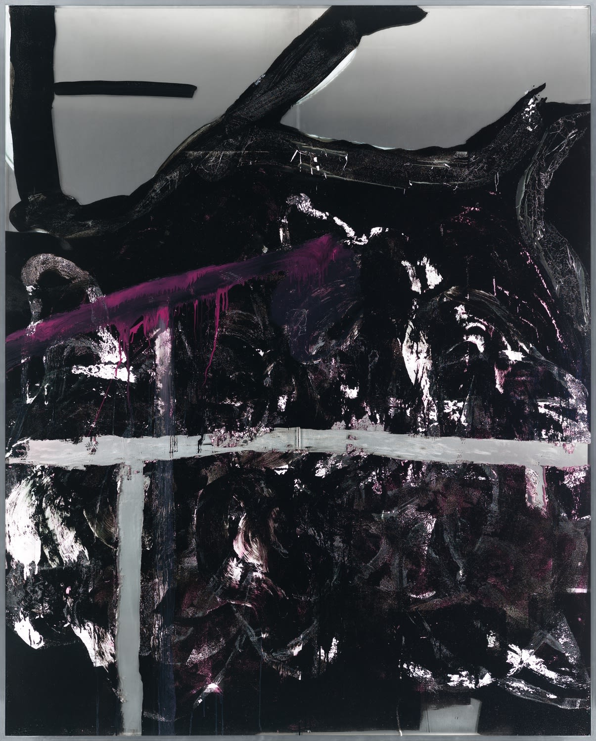 Dekonstruktion von Radikal 153 (Haut), 2019/2020 Acrylic, lacquer and gesso on glass and aluminum 203 x 163 cm | 80 x 64 1/4 in