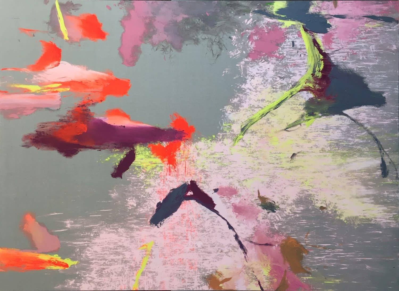 Hades Mercato (DAS ENTSTEHEN UNFERTIGER BEGRIFFE), 2020 Acrylic and lacquer on Belgian linen 443 x 314 x 4.5 cm | 174 1/2 x 123 2/3 x 1 3/4 in