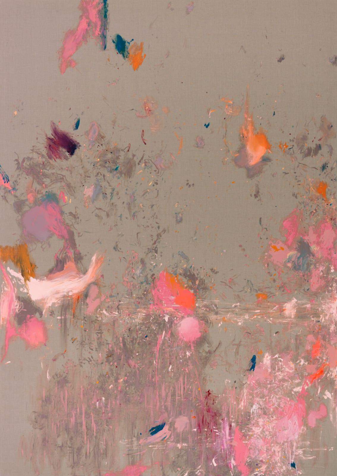 Sandlaufkäfer (DIE BEFREIUNG DER FORM AUS DEM SCHMERZ), 2020 Acrylic and lacquer on Belgian linen 443 x 314 x 4.5 cm | 174 1/2 x 123 2/3 x 1 3/4 in